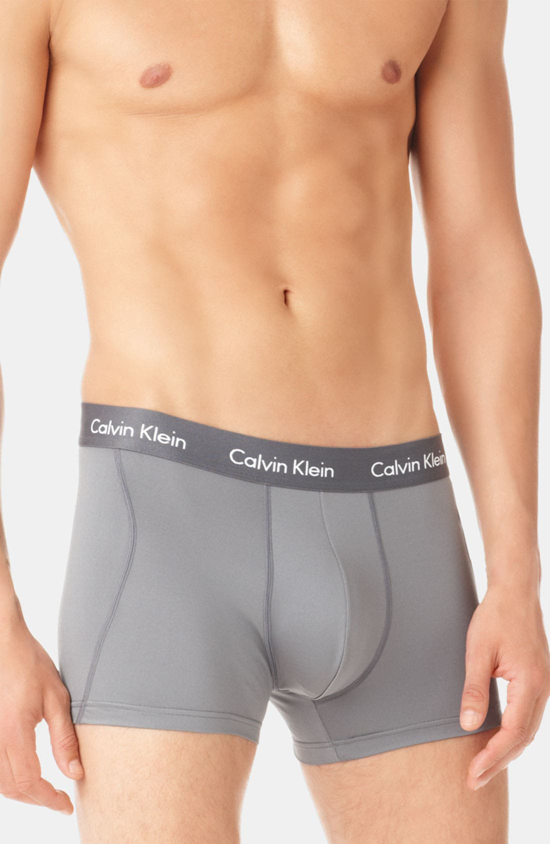 Main Image - Calvin Klein Microfiber Stretch Trunks (Assorted 2-Pack)(Online Exclusive)