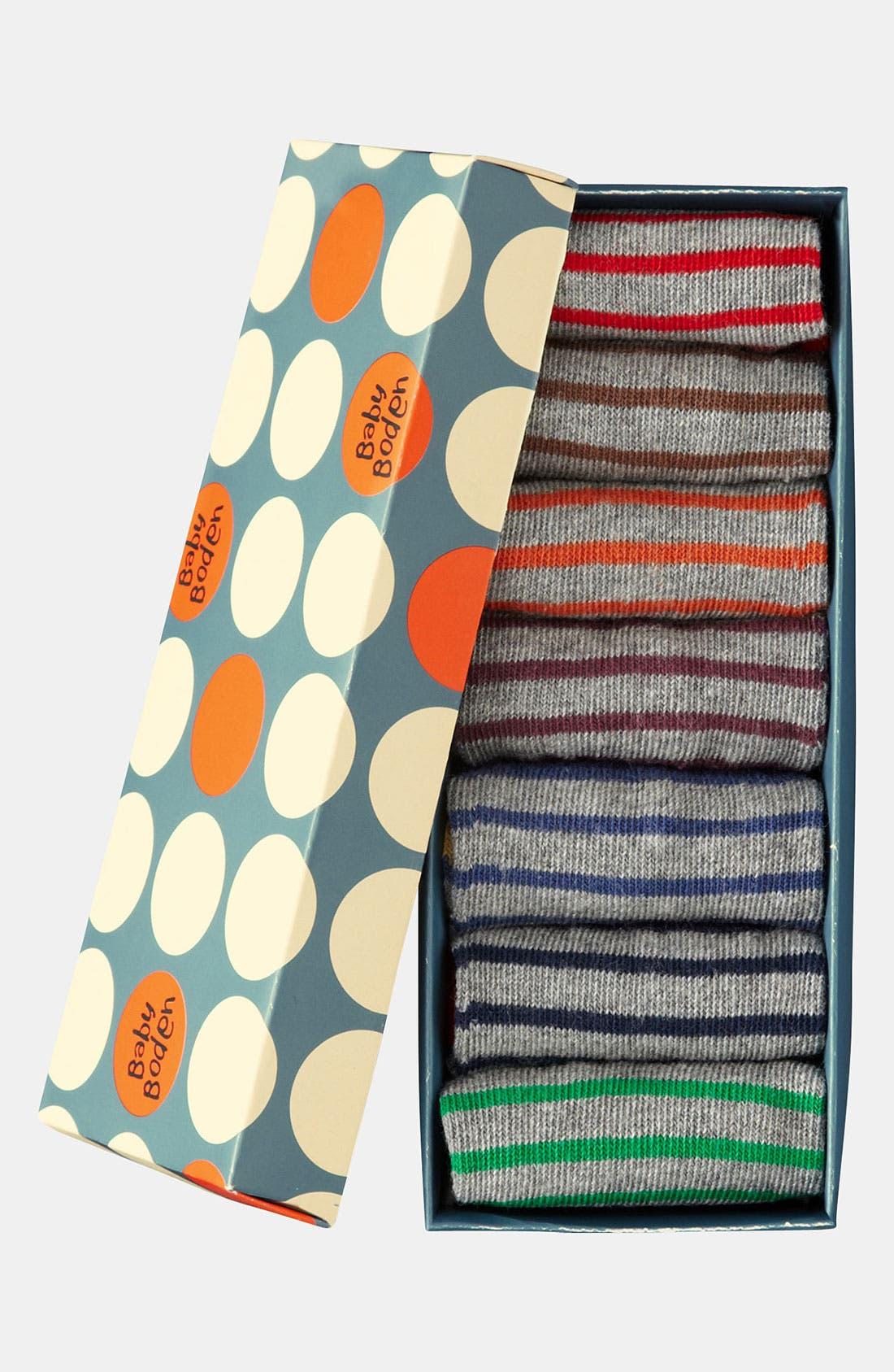 Alternate Image 2  - Mini Boden Socks (7-Pack) (Infant & Toddler)