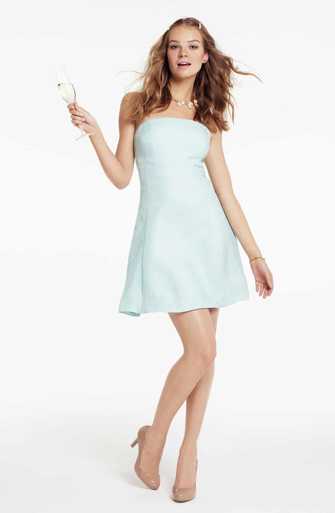 Alternate Image 4  - Donna Morgan Strapless Silk Organza Fit & Flare Dress