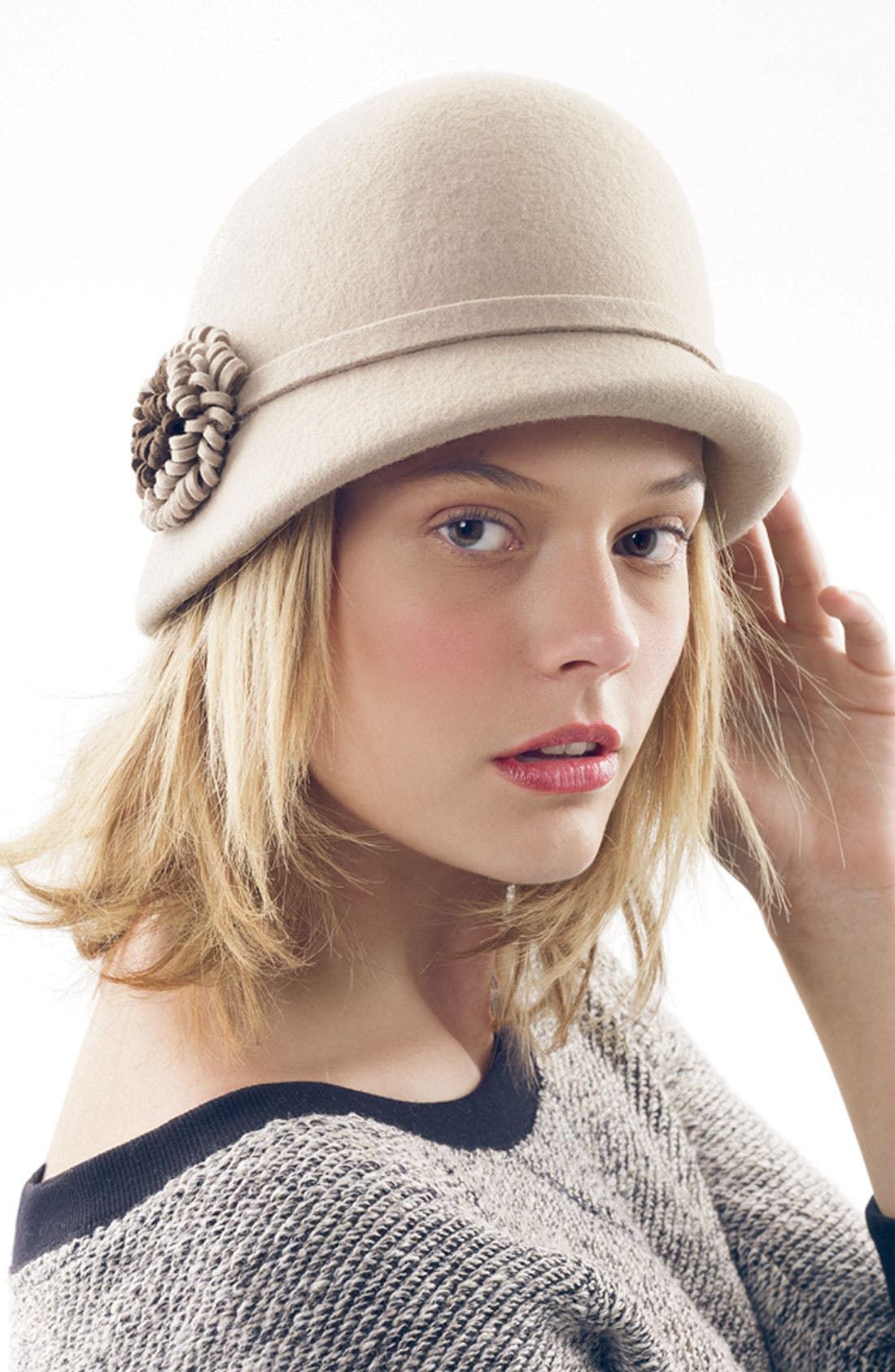 Alternate Image 3  - Nordstrom Felt Flower Cloche