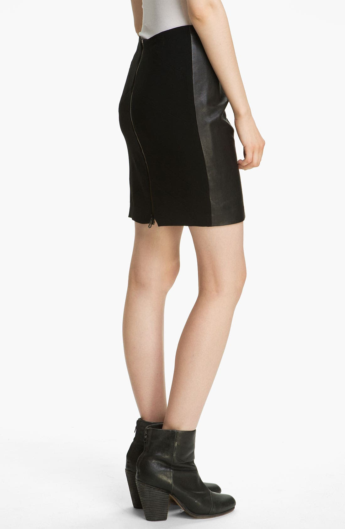 Alternate Image 3  - rag & bone 'Vanhi' Leather Panel Skirt