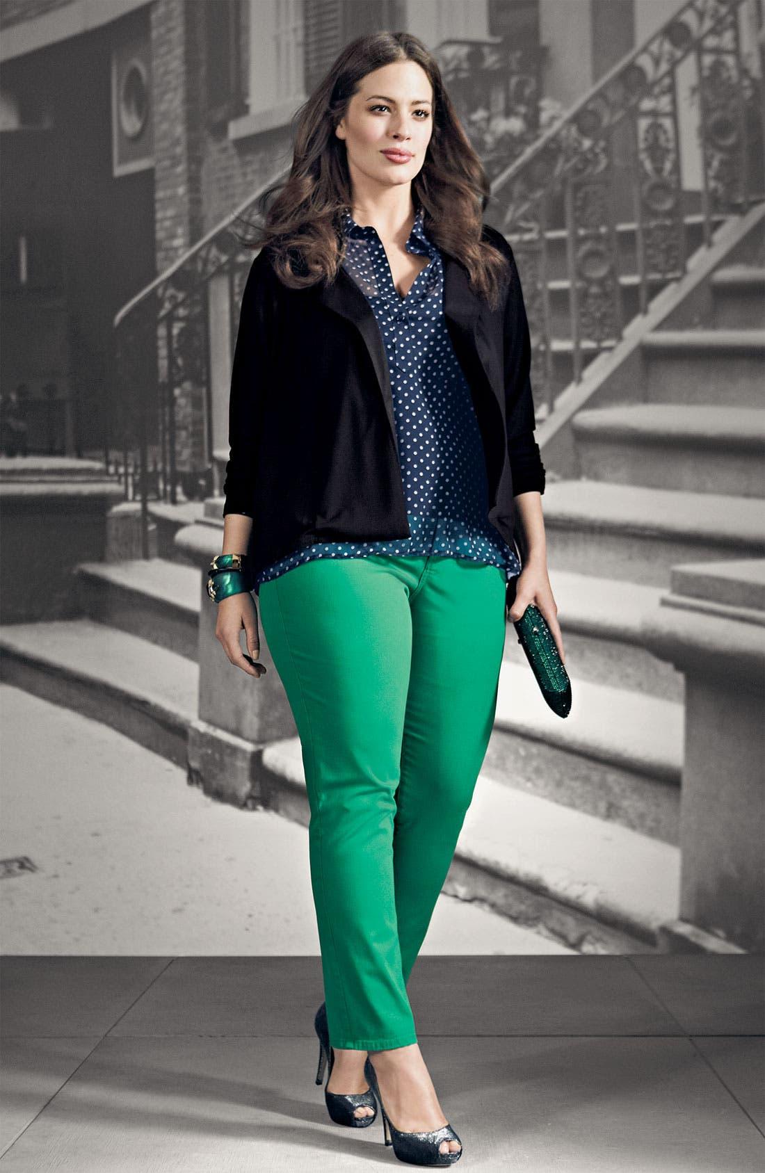 Alternate Image 3  - Olivia Moon Knit Blazer (Plus)