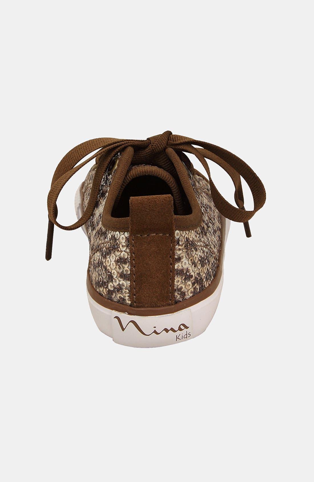 Alternate Image 2  - Nina 'Vyolet' Sequin Sneaker (Walker, Toddler & Little Kid)