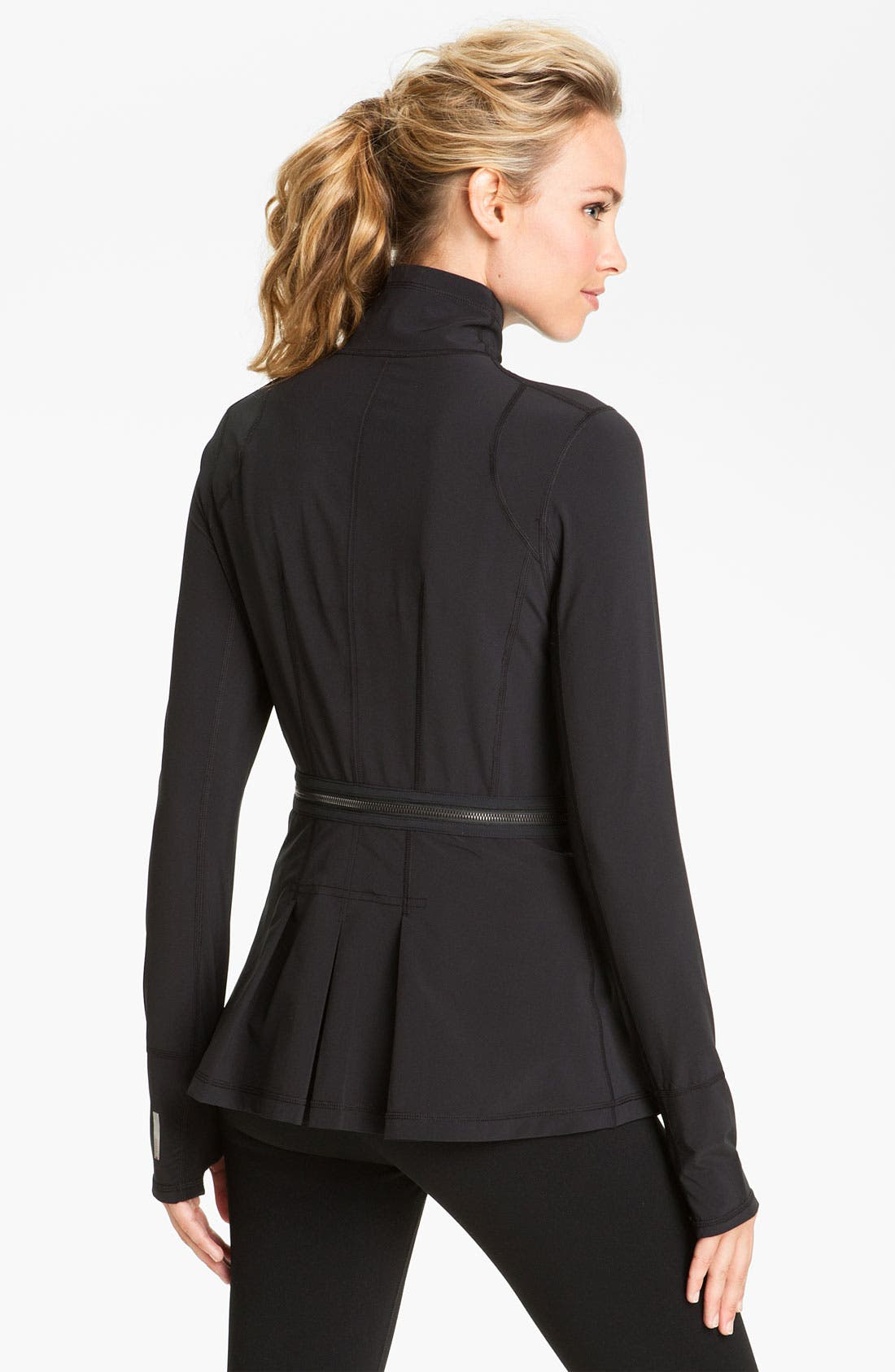 Alternate Image 2  - Zella Zip Off Peplum Jacket