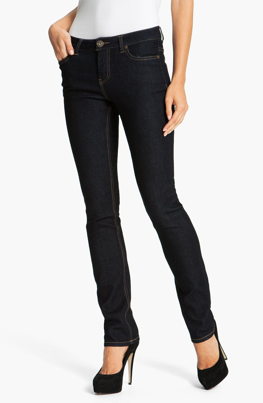 Alternate Image 2  - Liverpool Jeans Company 'Sadie' Straight Leg Supersoft Stretch Jeans (Petite) (Online Only)