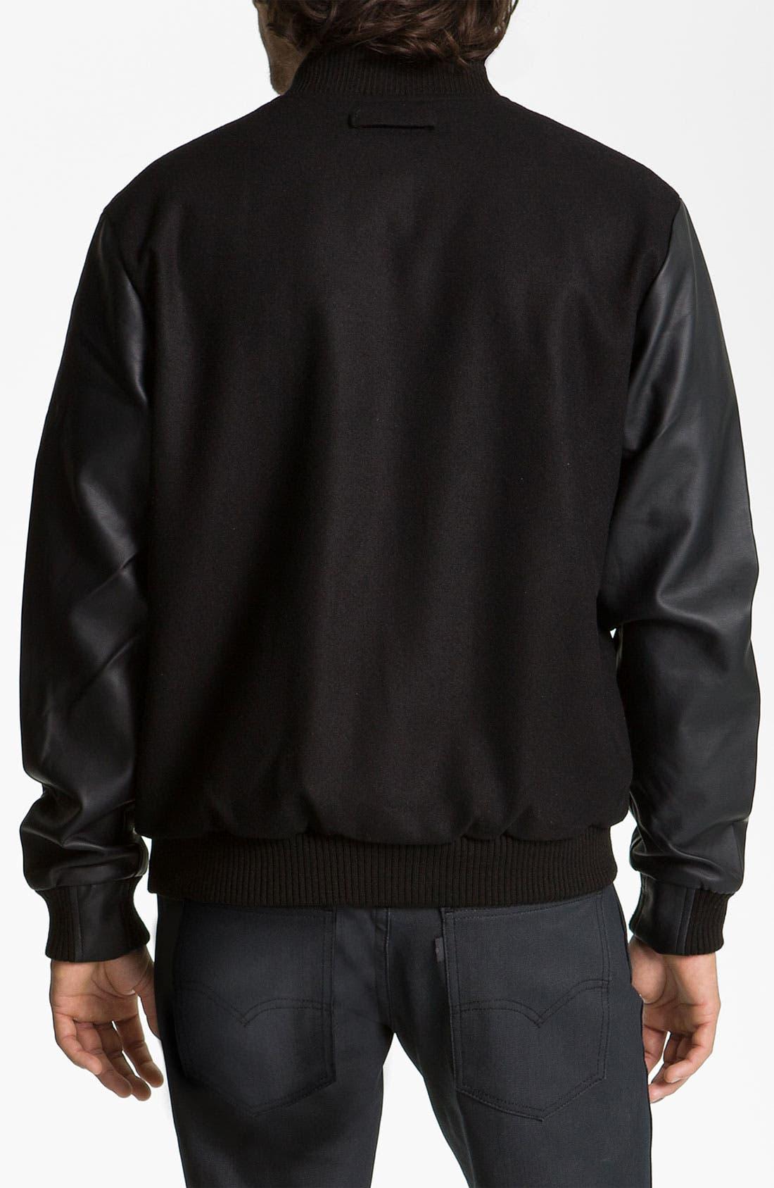 Alternate Image 2  - Lira Clothing Wool Blend Varsity Jacket