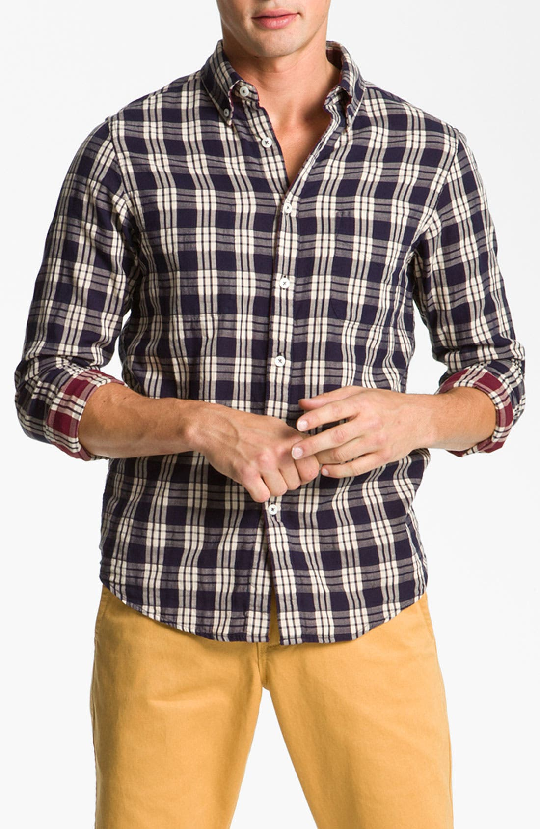 Main Image - Ben Sherman 'Clerkenwell' Reversible Plaid Woven Shirt