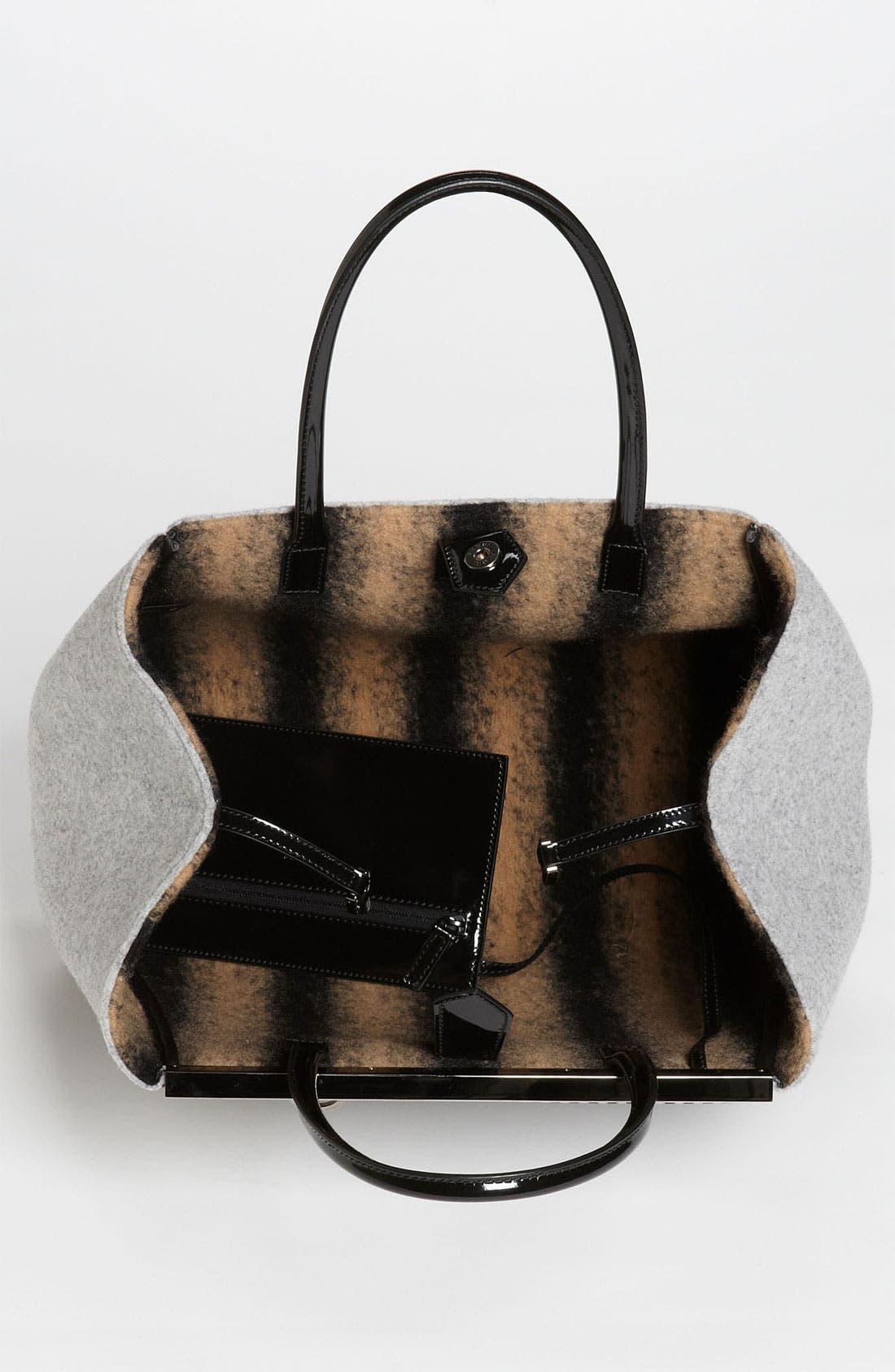 Alternate Image 3  - Fendi '2Jours - Large' Felted Wool Shopper