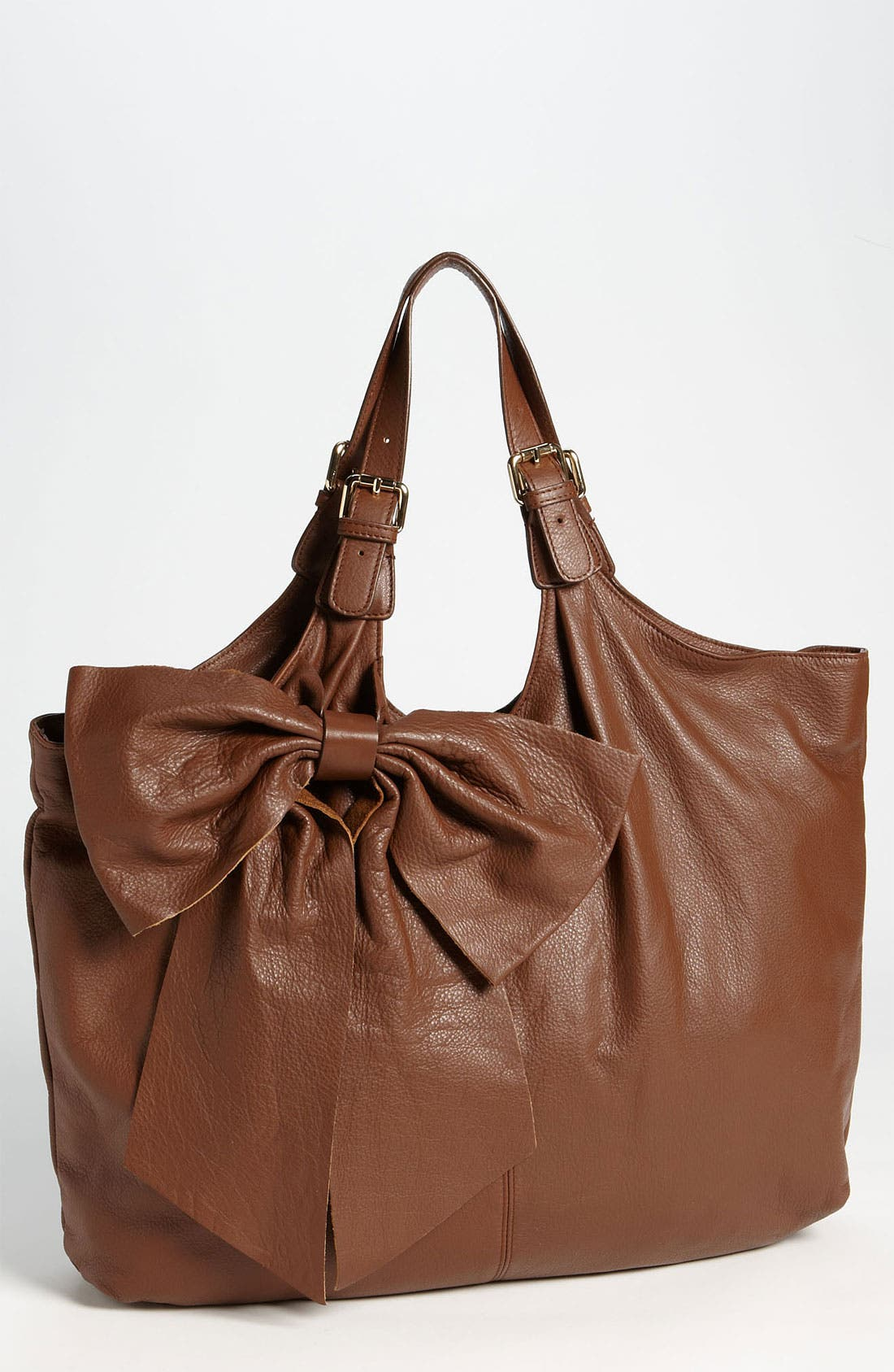 Alternate Image 1 Selected - RED Valentino 'Bow' Leather Tote
