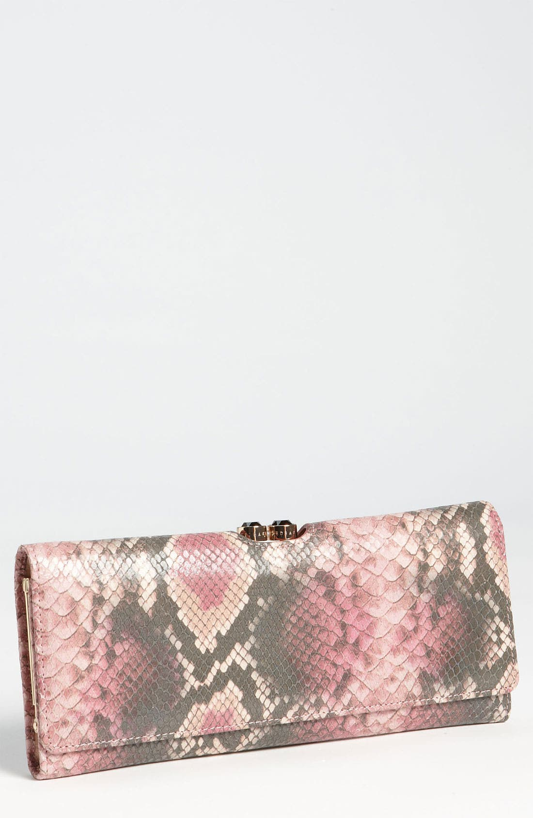Main Image - Ted Baker London 'Snake Embossed - Large' Matinee Wallet