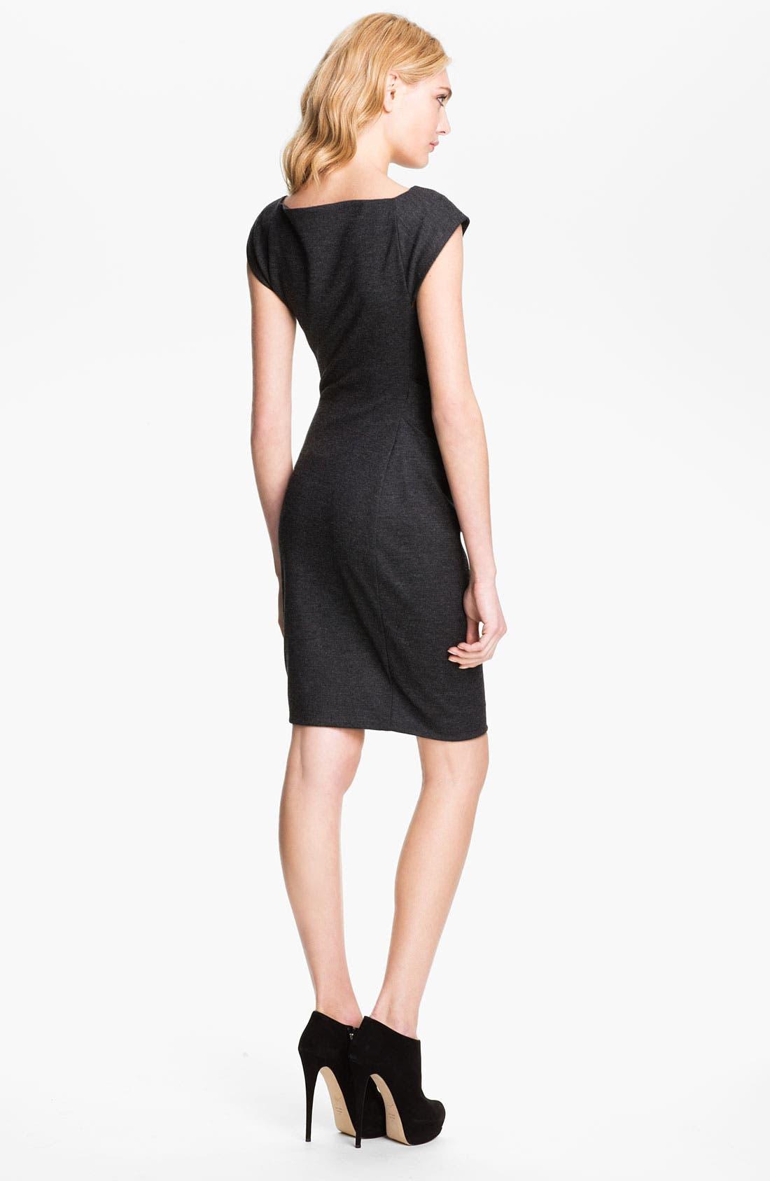 Alternate Image 2  - Diane von Furstenberg Stretch Wool Jersey Shift Dress