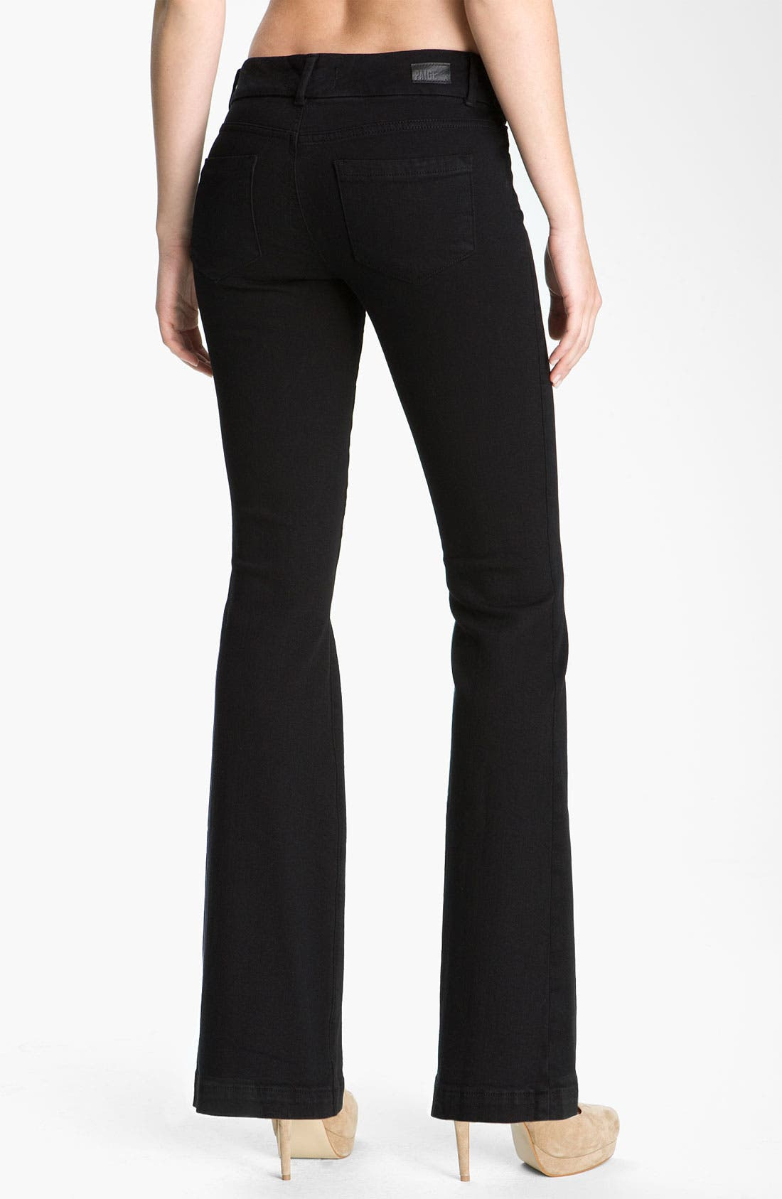 Alternate Image 2  - Paige Denim 'Kennedy' Bootcut Stretch Jeans (Black Ink)