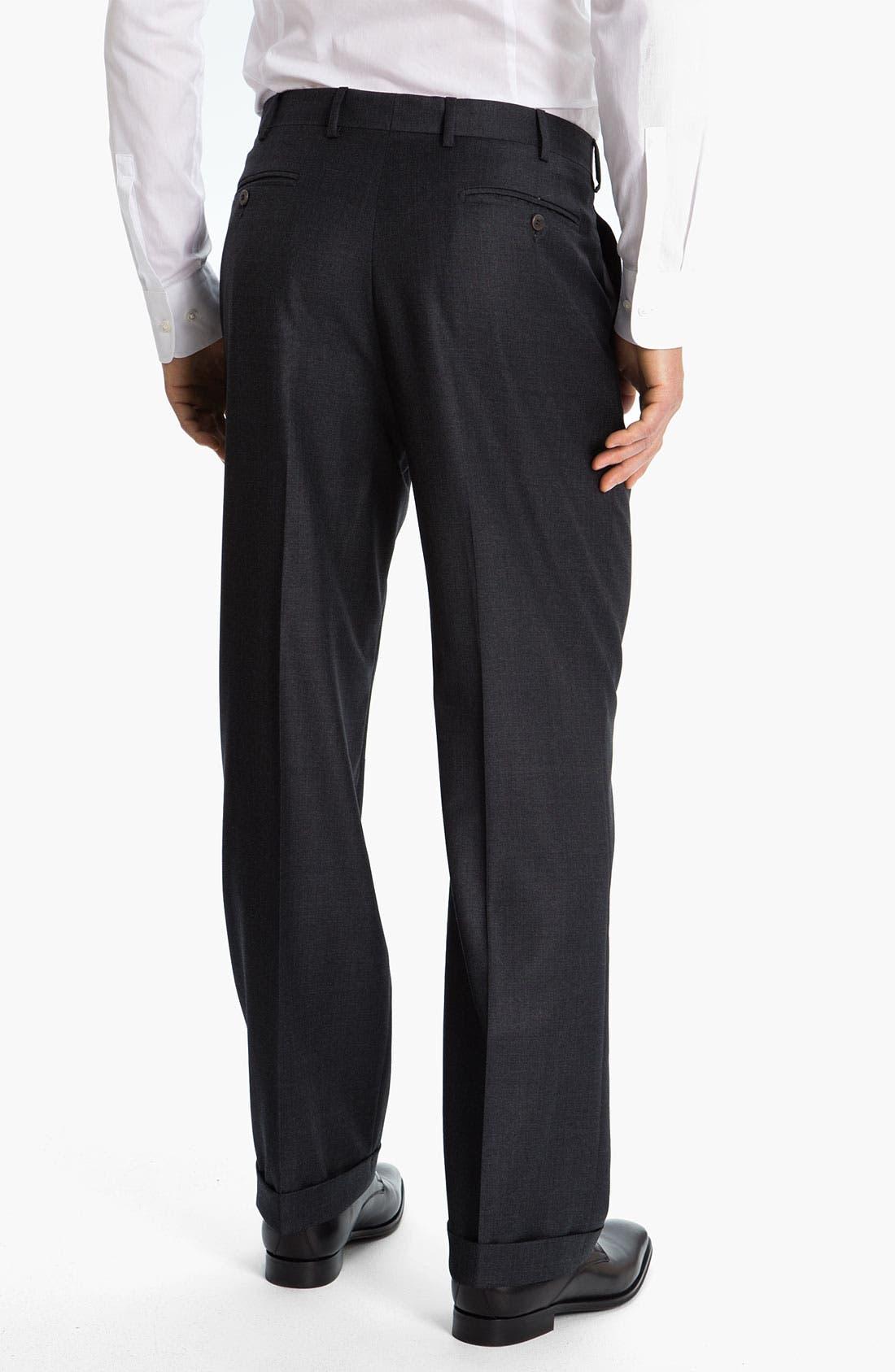 Alternate Image 2  - Zanella 'Bennett' Pleated Wool Trousers