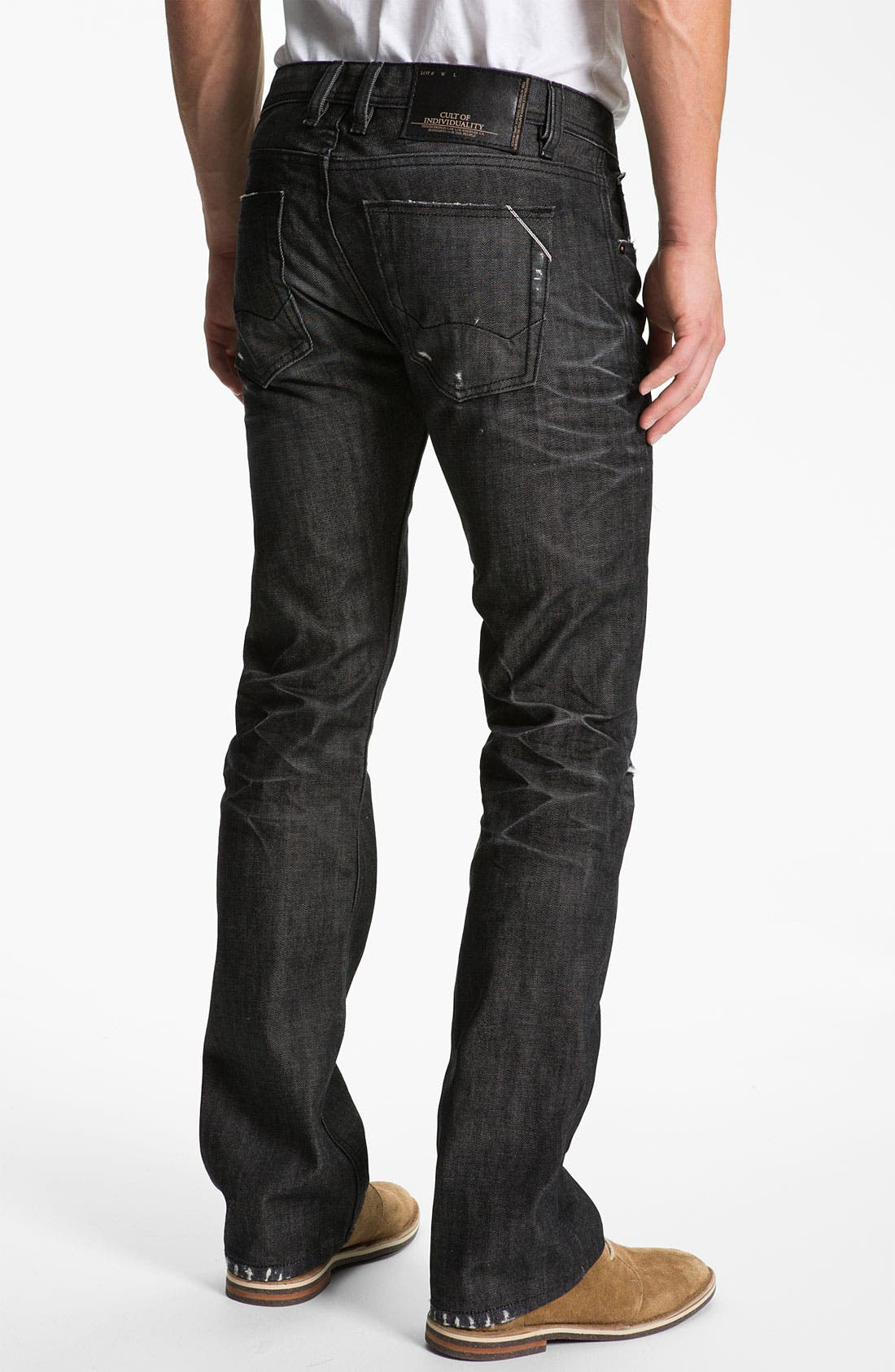 Main Image - Cult of Individuality 'Hagen' Relaxed Straight Leg Jeans (Black)