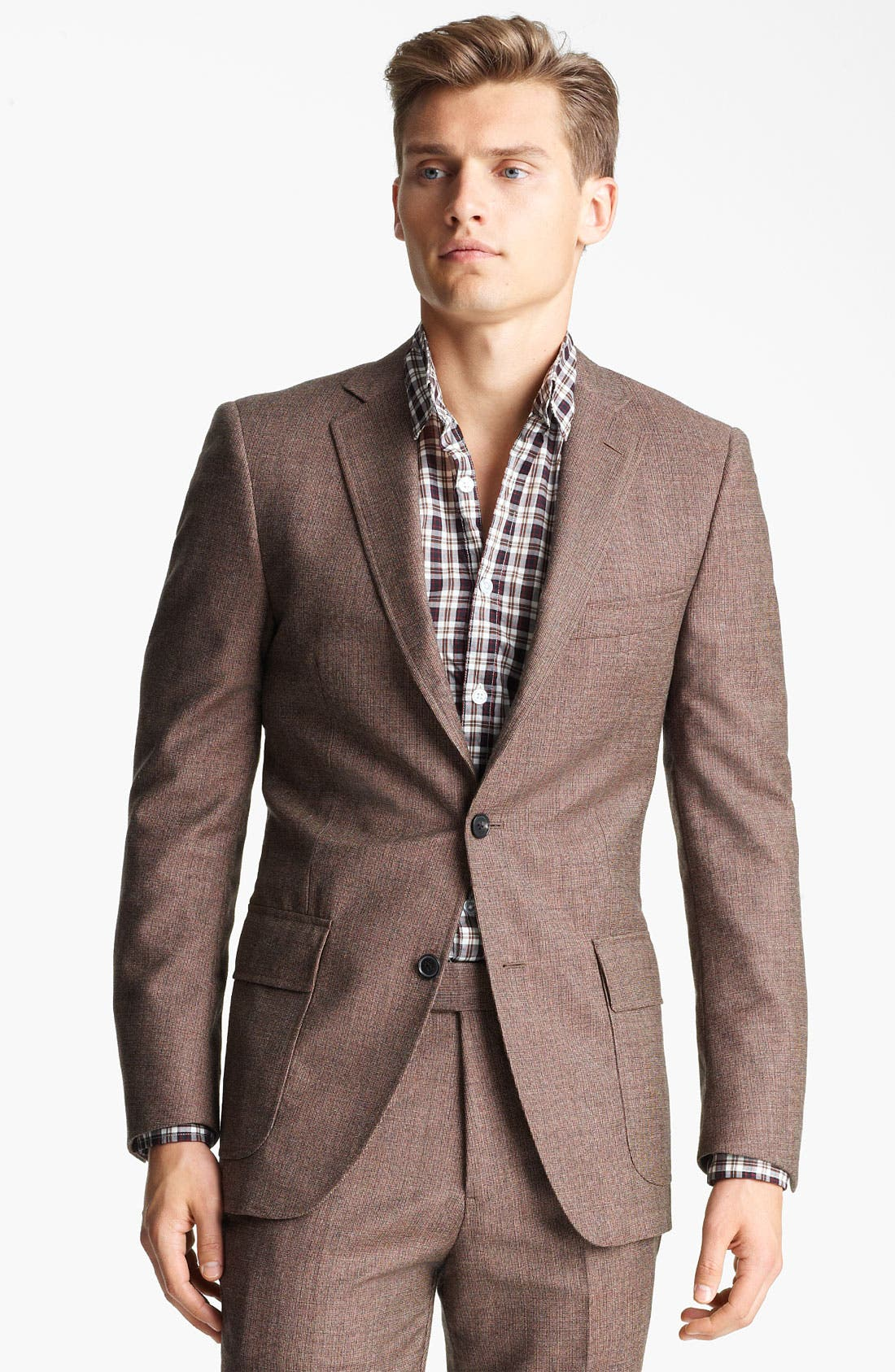 Alternate Image 1 Selected - Billy Reid 'Campbell - Heirloom Collection' Tweed Suit