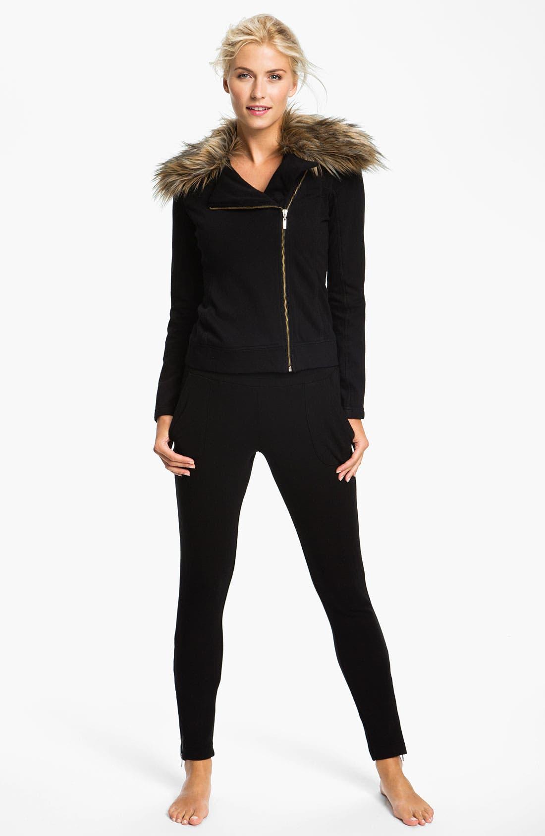 Alternate Image 4  - Pink Lotus 'Open Road' Faux Fur Trim Jacket