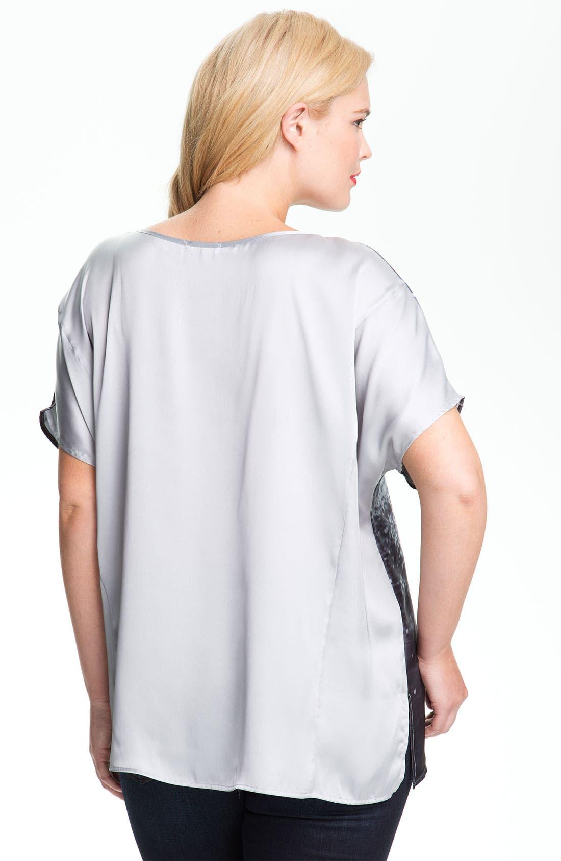 Alternate Image 2  - Pleione Graphic Print Asymmetrical Top (Plus Size)