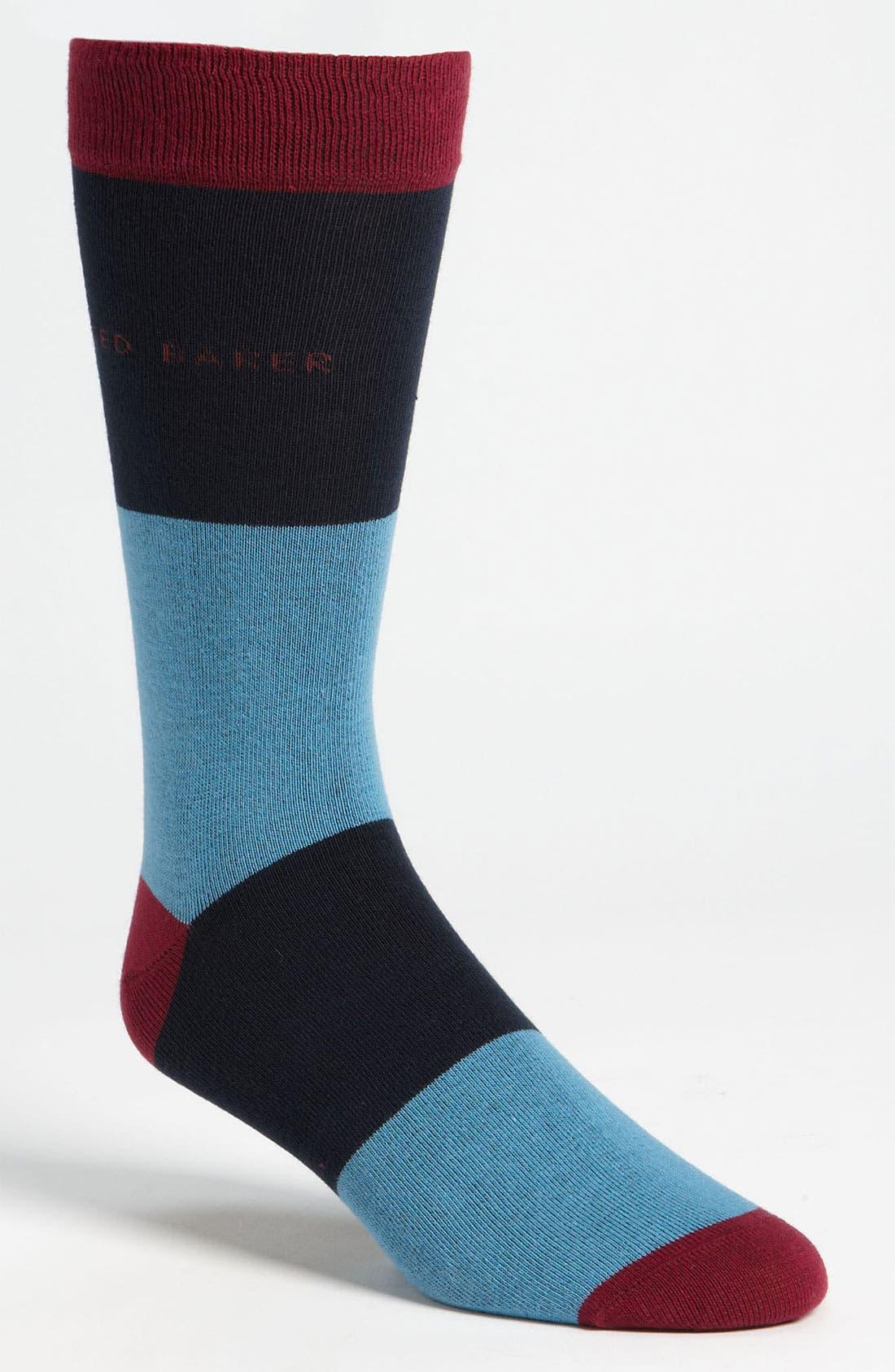 Alternate Image 1 Selected - Ted Baker London 'Large Stripe' Socks