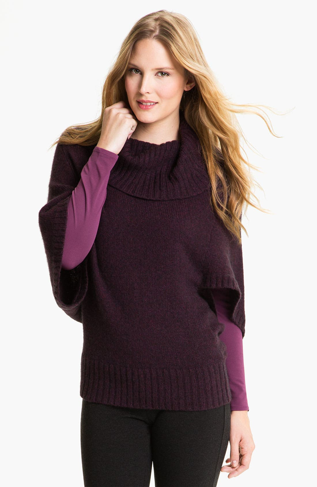 Alternate Image 1 Selected - Eileen Fisher Funnel Neck Sweater