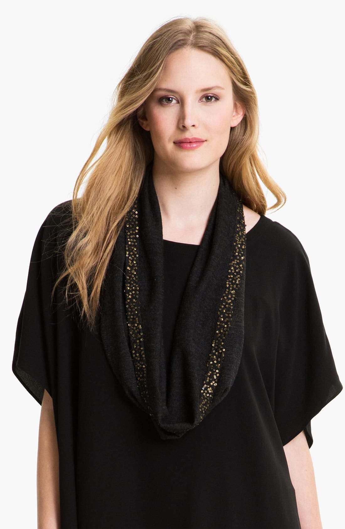 Alternate Image 1 Selected - Eileen Fisher Merino & Sequin Scarf