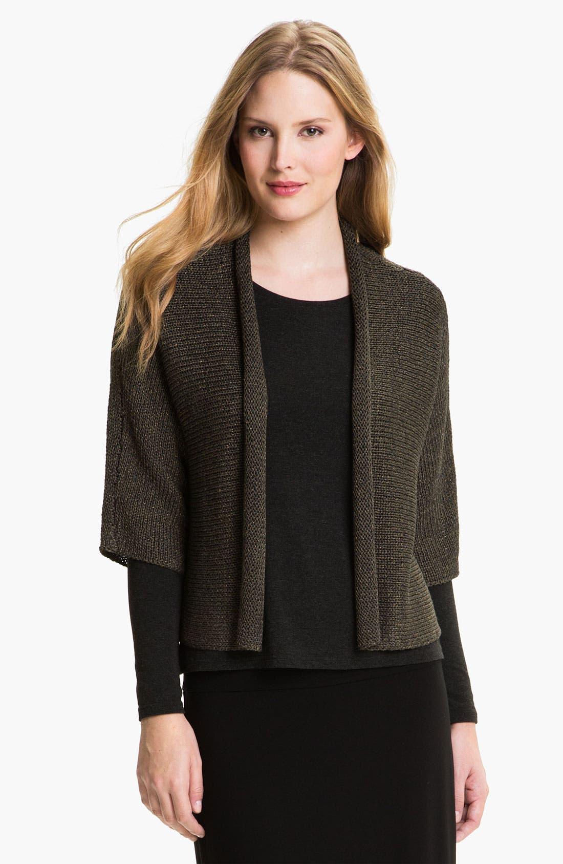Alternate Image 1 Selected - Eileen Fisher Open Front Cardigan