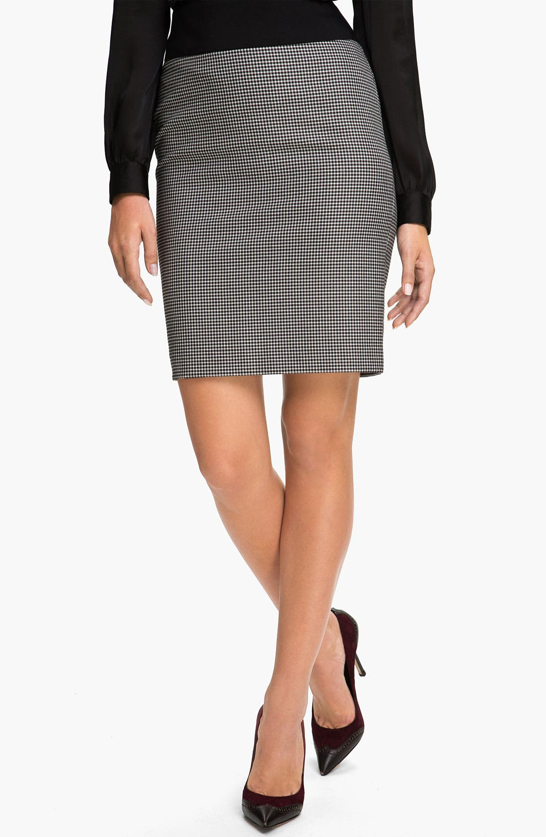 Alternate Image 1 Selected - Vince Camuto Houndstooth Skirt