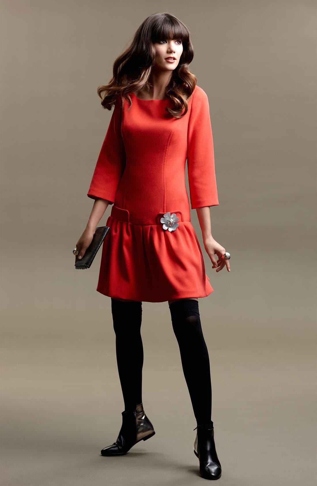 Alternate Image 4  - Eliza J Seam Detail Drop Waist Dress