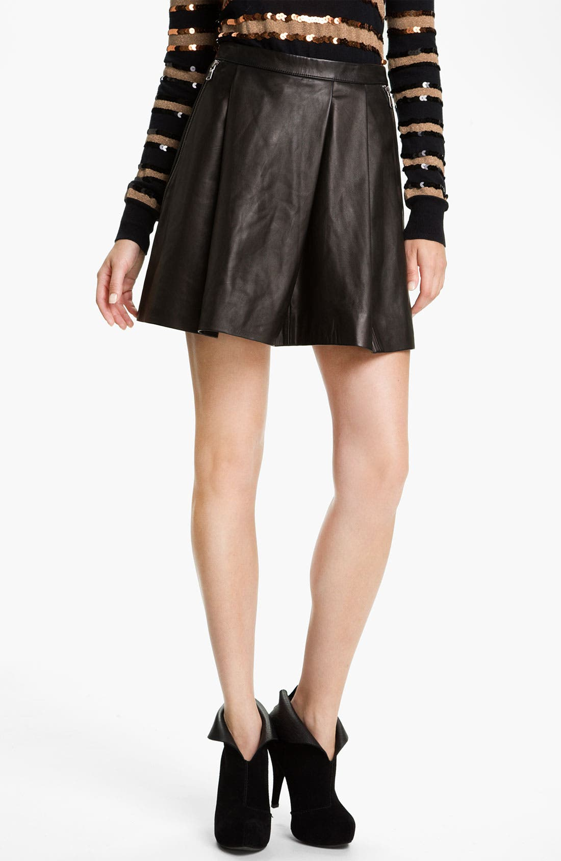 Alternate Image 1 Selected - MARC BY MARC JACOBS 'Sergeant' Leather Skirt
