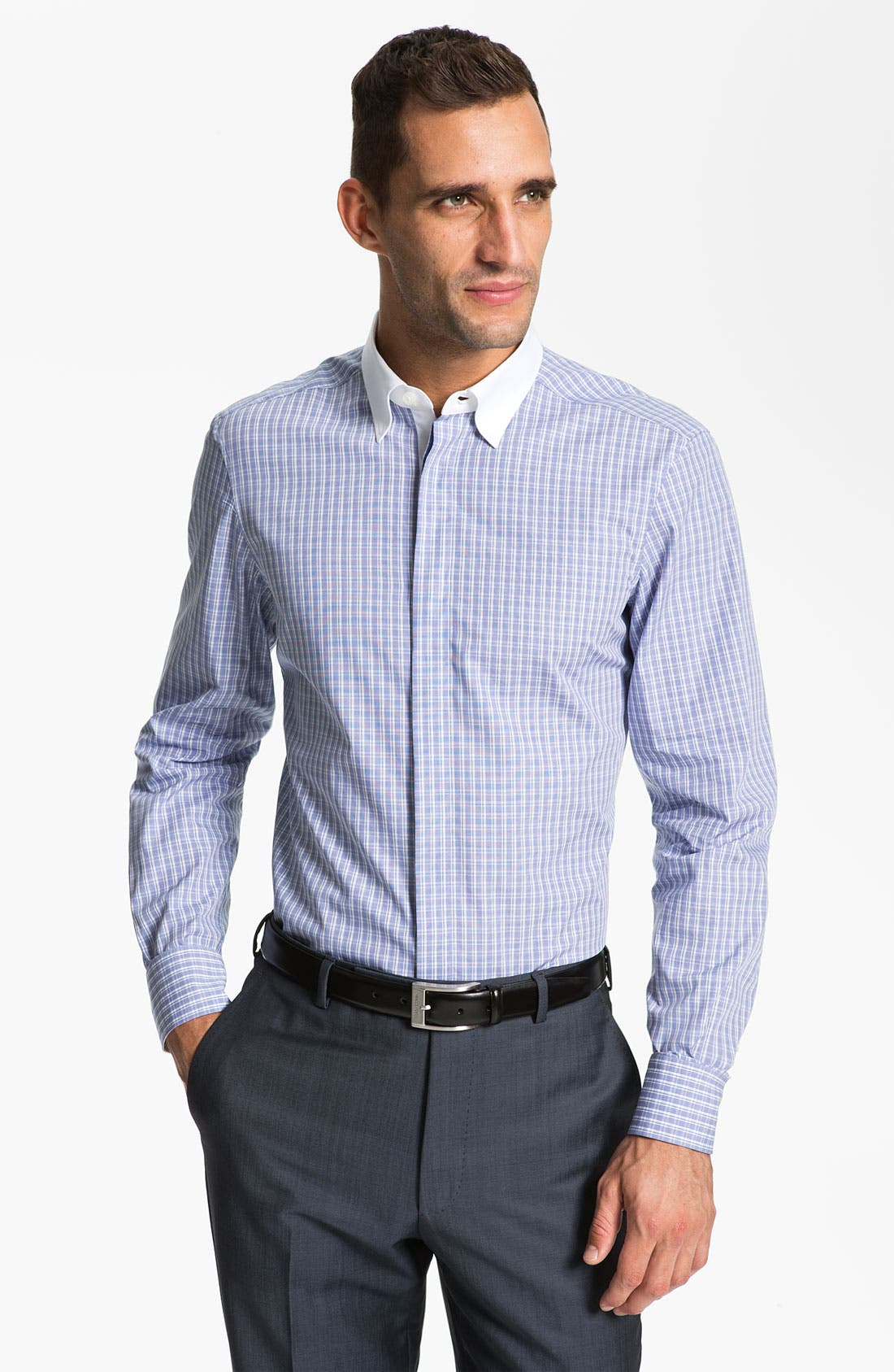 Alternate Image 1 Selected - Z Zegna Trim Fit Dress Shirt