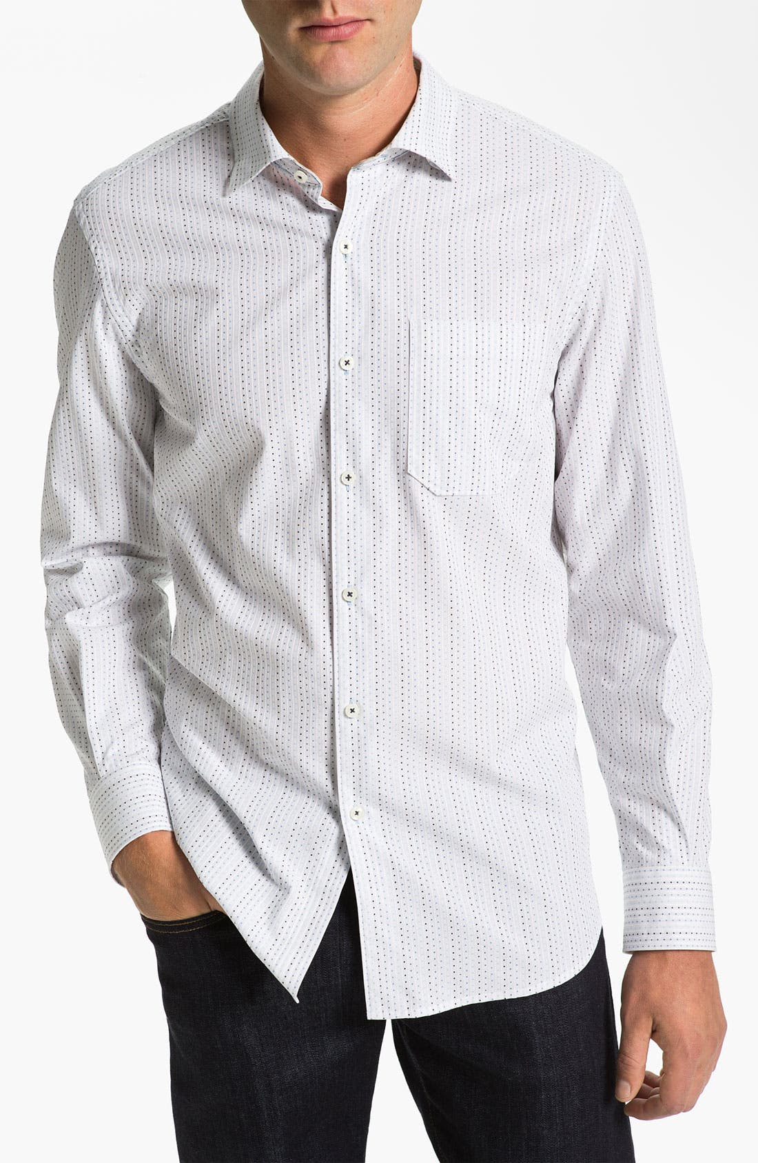 Main Image - Tommy Bahama 'Jacquart-a Stripe' Sport Shirt