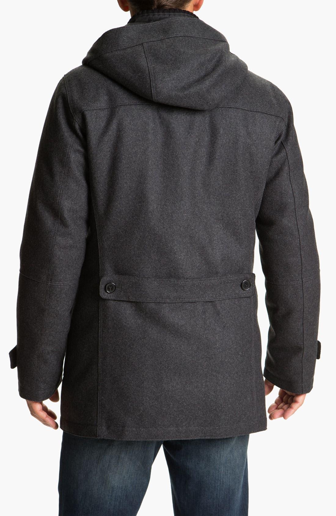 Alternate Image 2  - Allegri Wool Blend Caban Coat