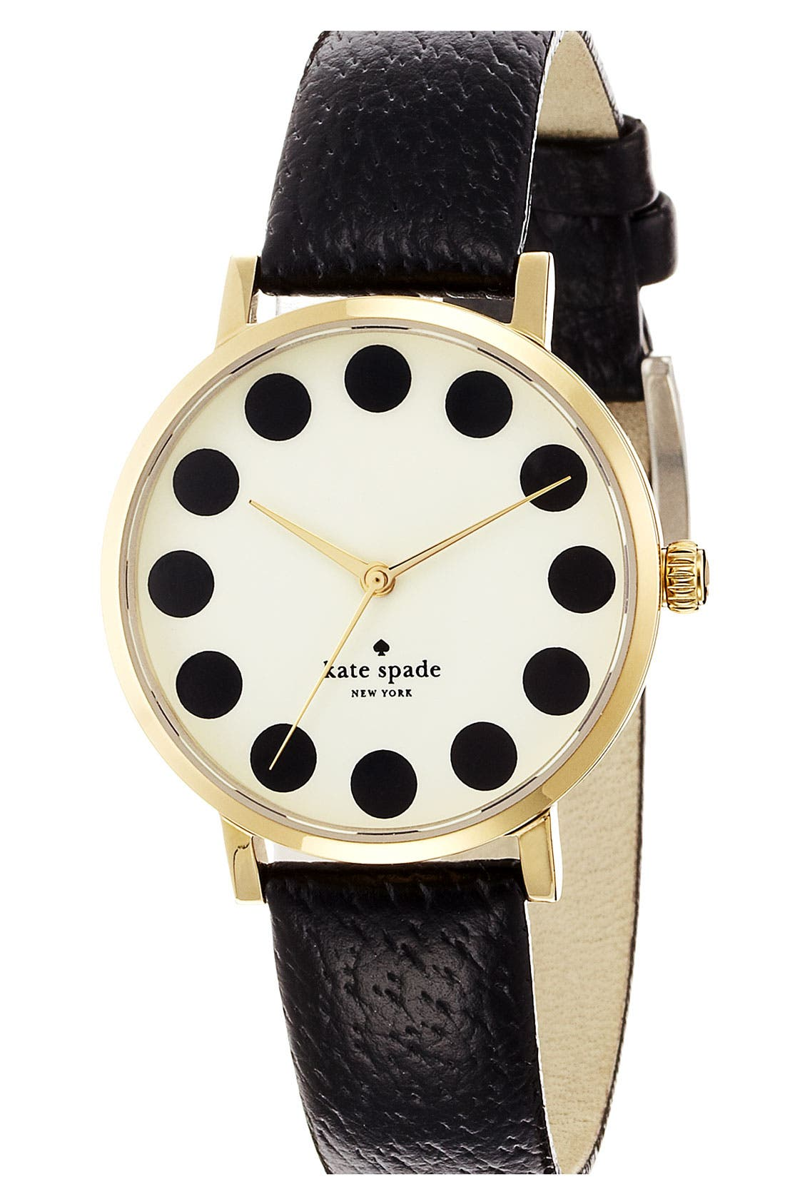 Alternate Image 1 Selected - kate spade new york 'metro' patterned dial watch