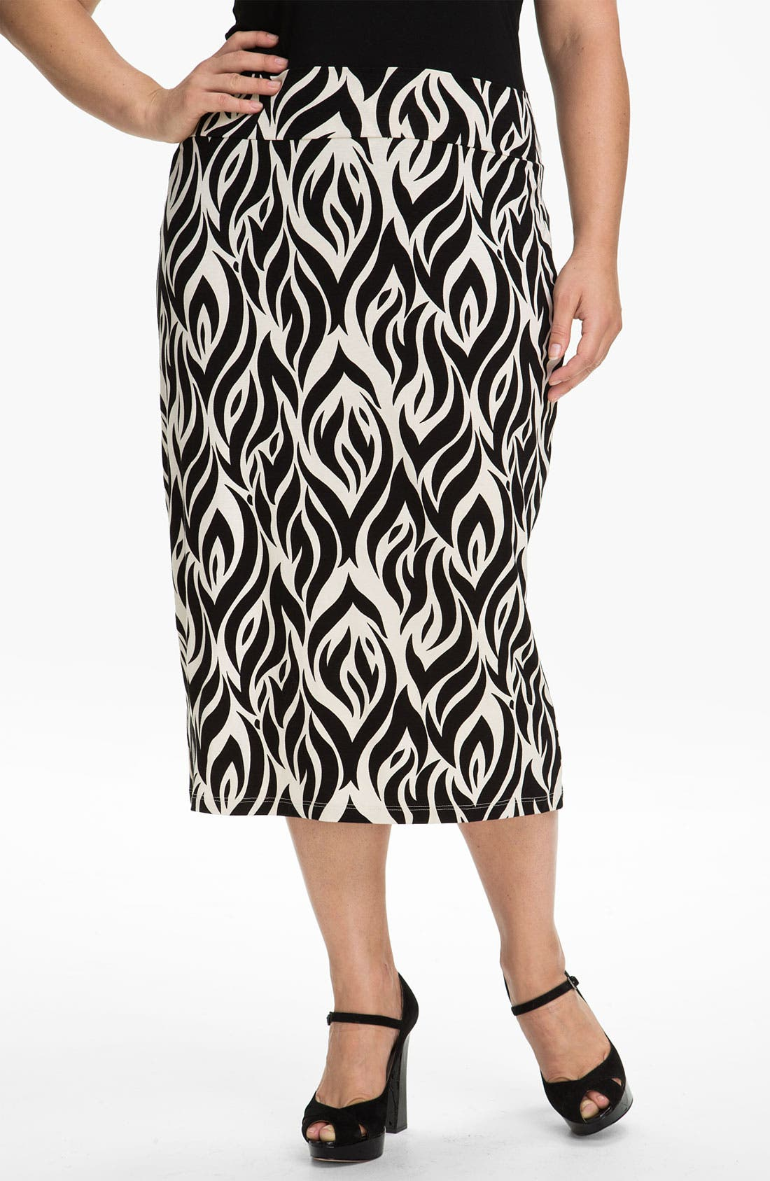 Alternate Image 1 Selected - Rachel Pally 'Bonnie' Print Knit Skirt (Plus)
