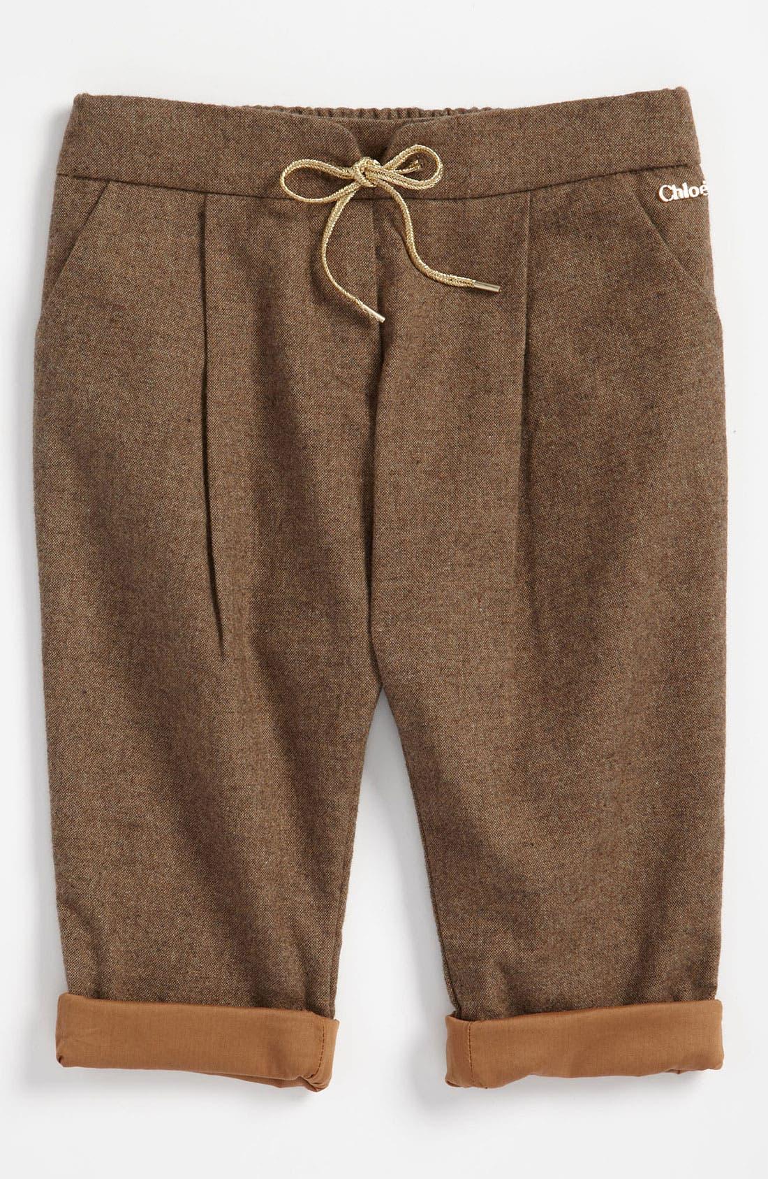Main Image - Chloé Tweed Pants (Infant)