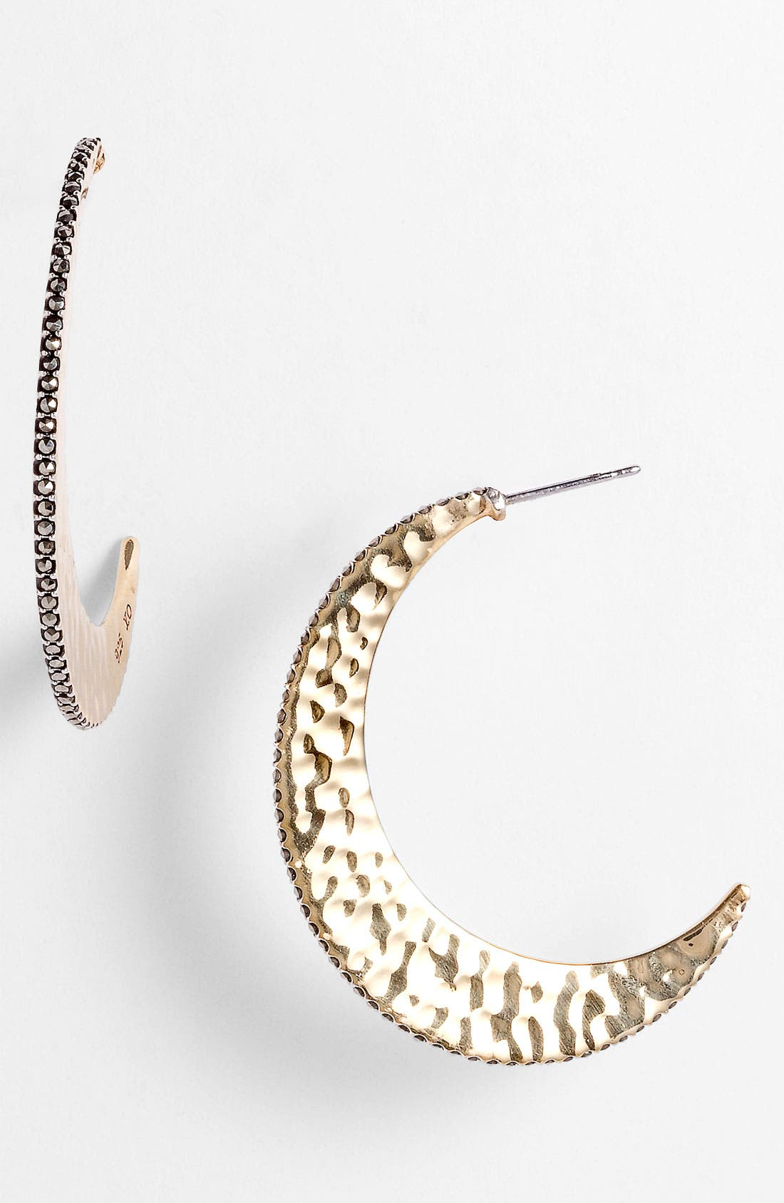 Main Image - Judith Jack 'Gold Sea' Crescent Hoop Earrings
