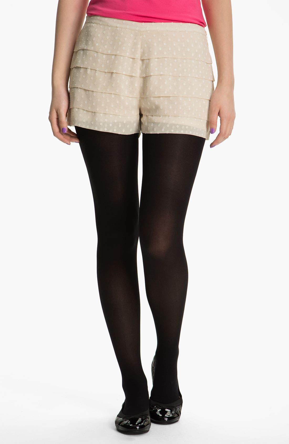 Main Image - Mimi Chica Tiered Shorts (Juniors)