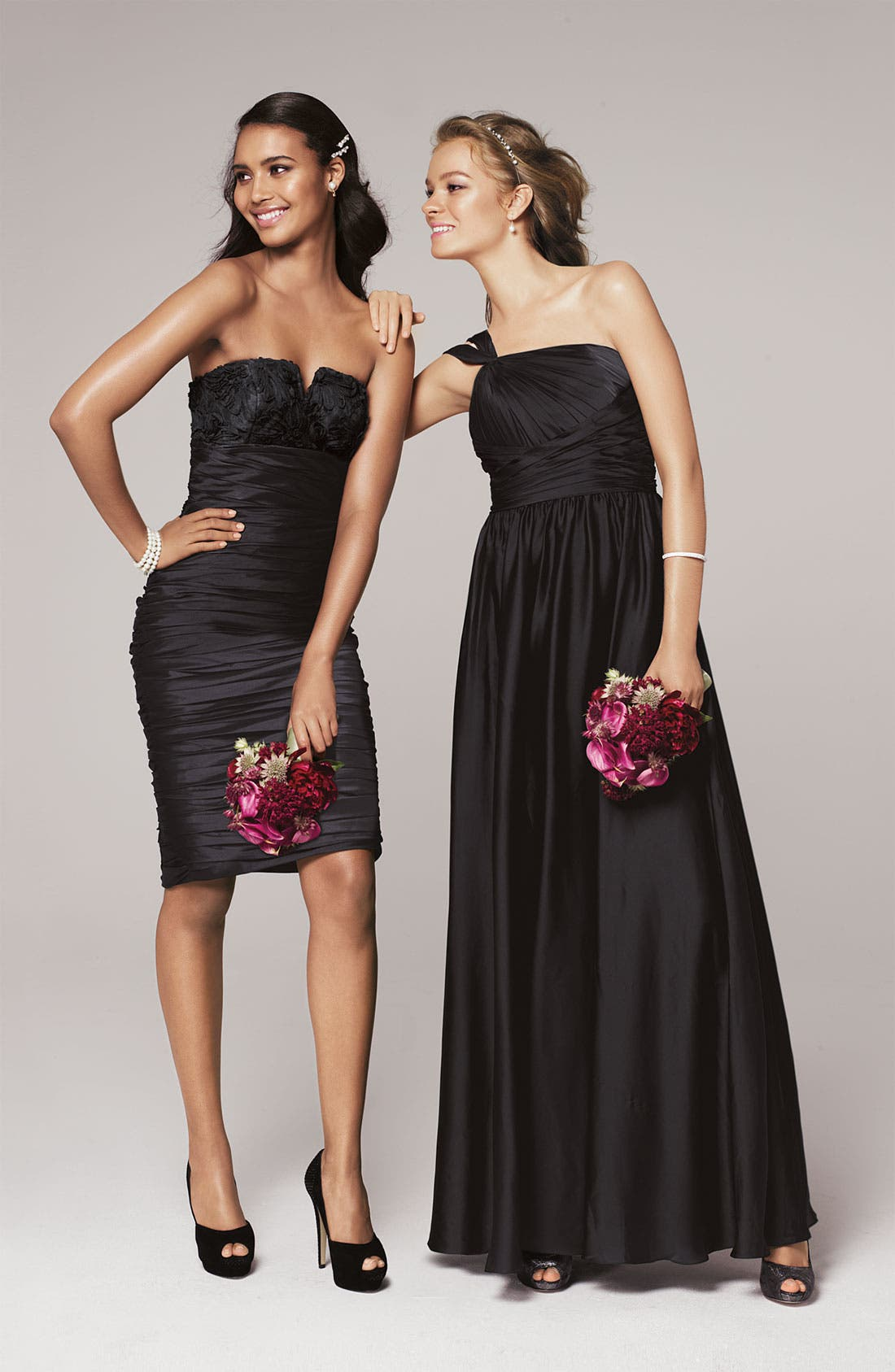Alternate Image 4  - ML Monique Lhuillier Bridesmaids Ruched Strapless Taffeta Dress (Nordstrom Exclusive)