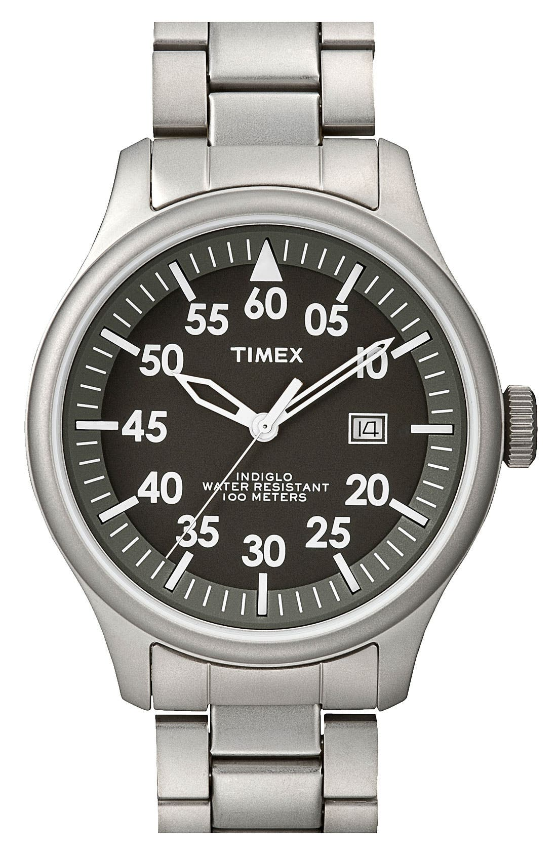 Alternate Image 1 Selected - Timex® 'Retro Vintage' Round Bracelet Watch