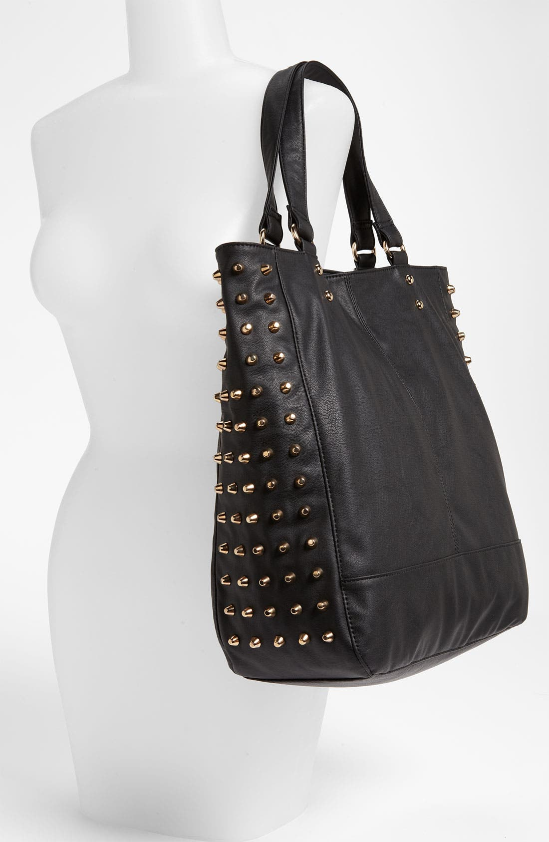 Alternate Image 2  - Cesca Studded Faux Leather Tote