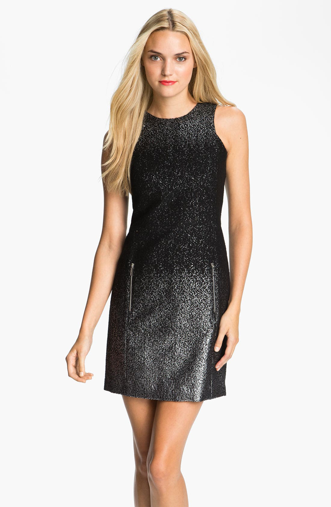 Alternate Image 1 Selected - MICHAEL Michael Kors Crewneck Metallic Dress