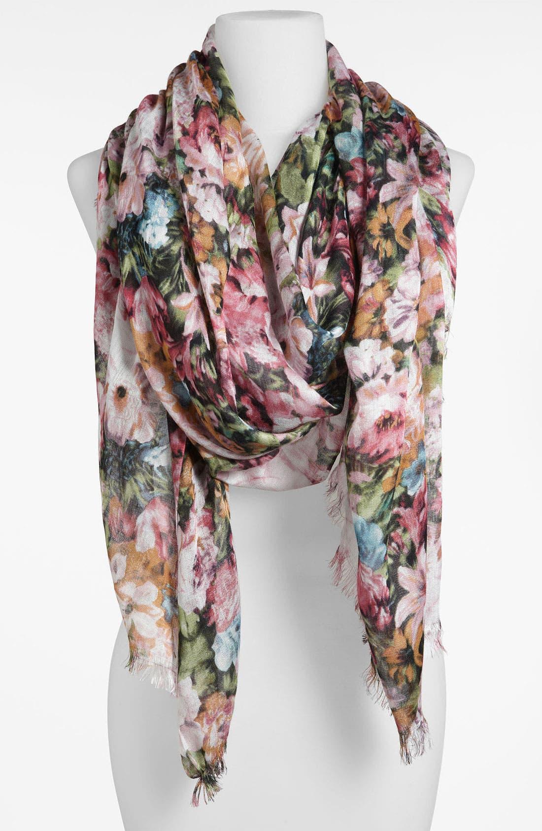 Alternate Image 1 Selected - Lulu Floral Print Scarf
