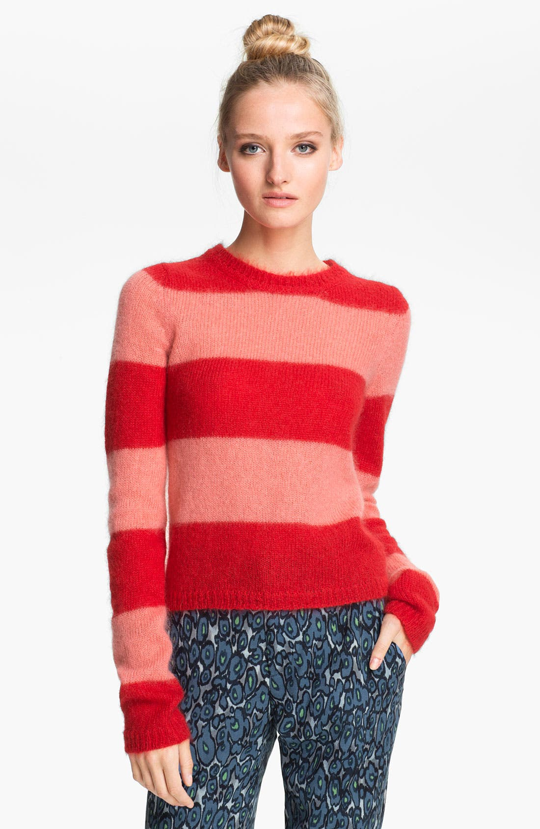Alternate Image 1 Selected - MSGM Stripe Crop Sweater