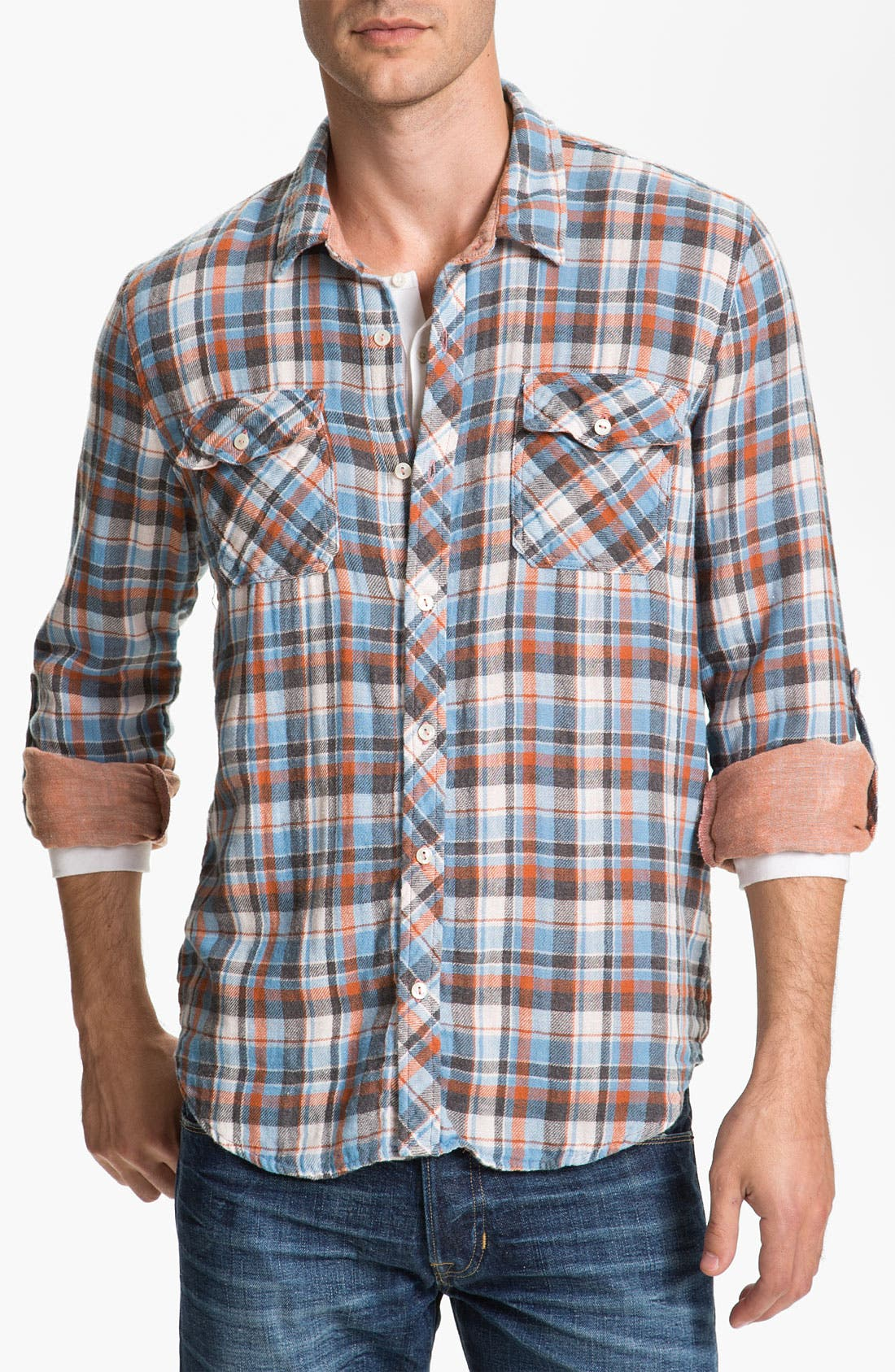 Alternate Image 1 Selected - Splendid Mills 'Cliff' Plaid Cotton Flannel Shirt