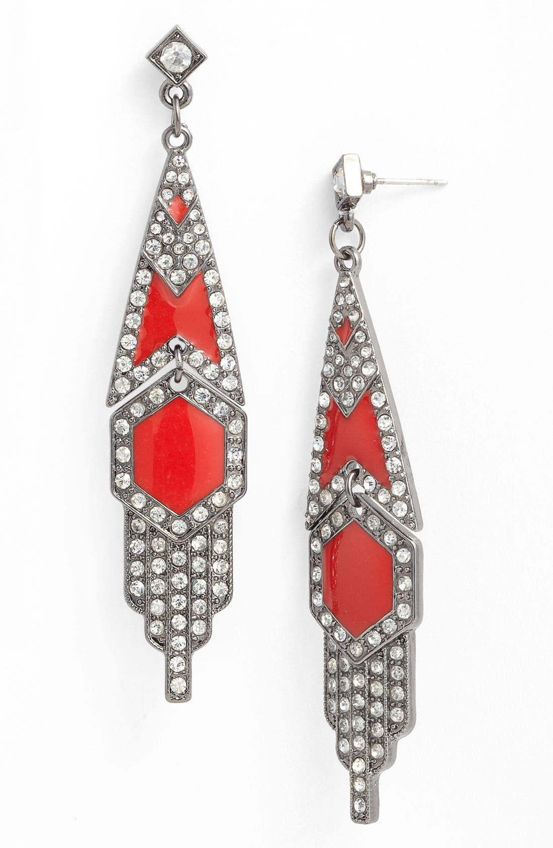 Main Image - Carole Deco Marquee Earrings