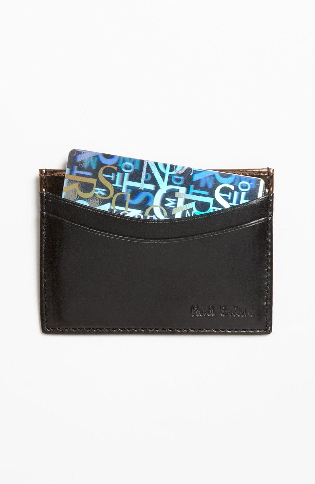 Main Image - Paul Smith Accessories Calfskin Leather Credit Card Case