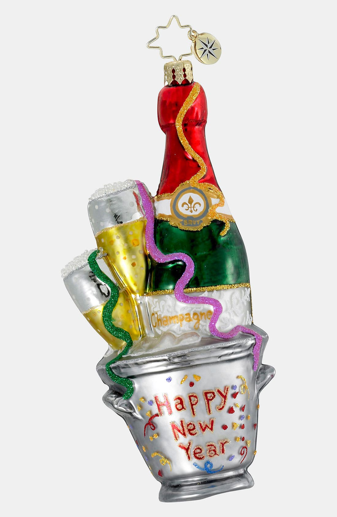 Alternate Image 1 Selected - Christopher Radko 'Champagne Wishes' Ornament