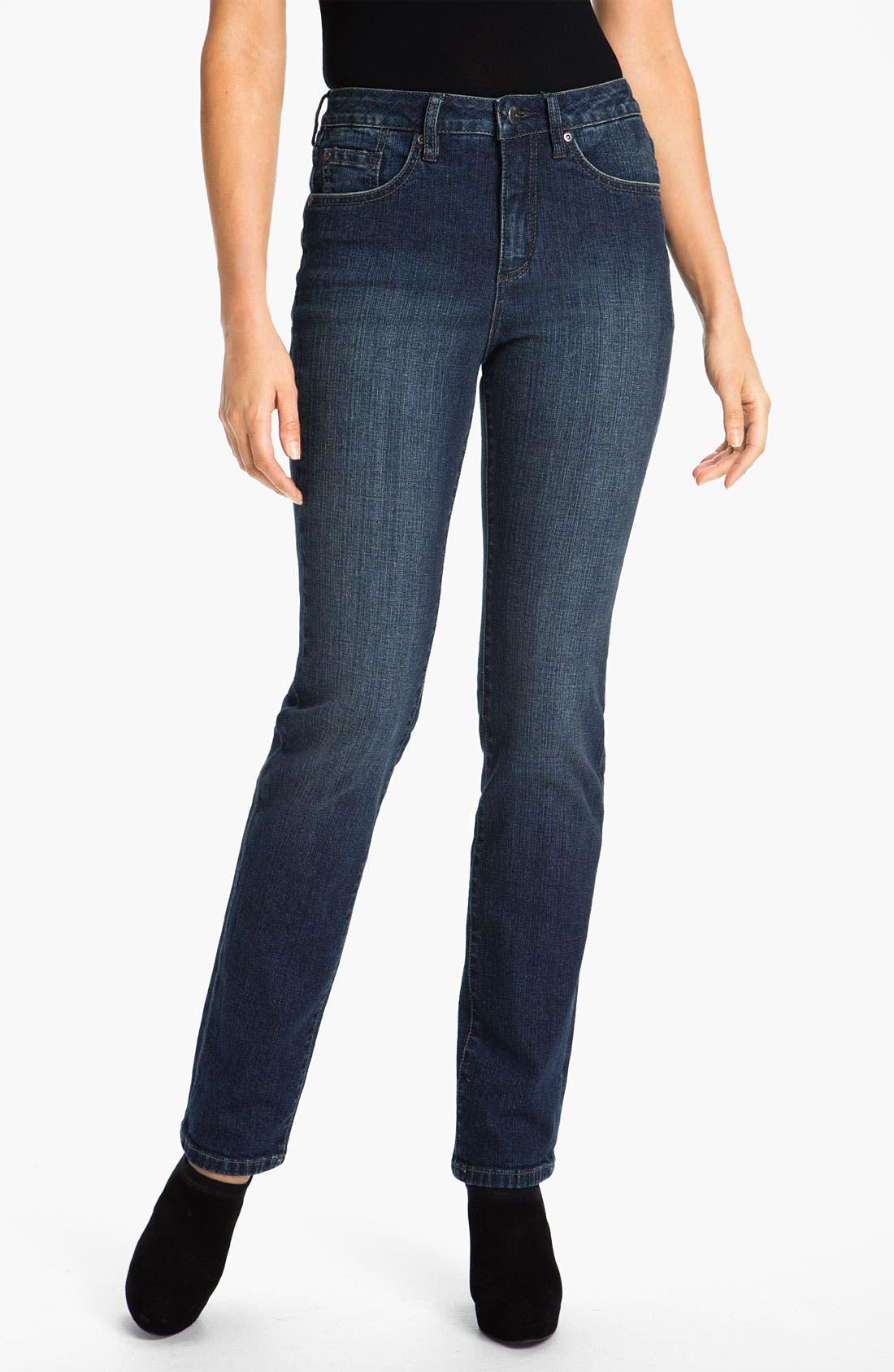 Alternate Image 1 Selected - Jag Jeans 'Sydney' Straight Leg Jeans (Billie Blue) (Petite)