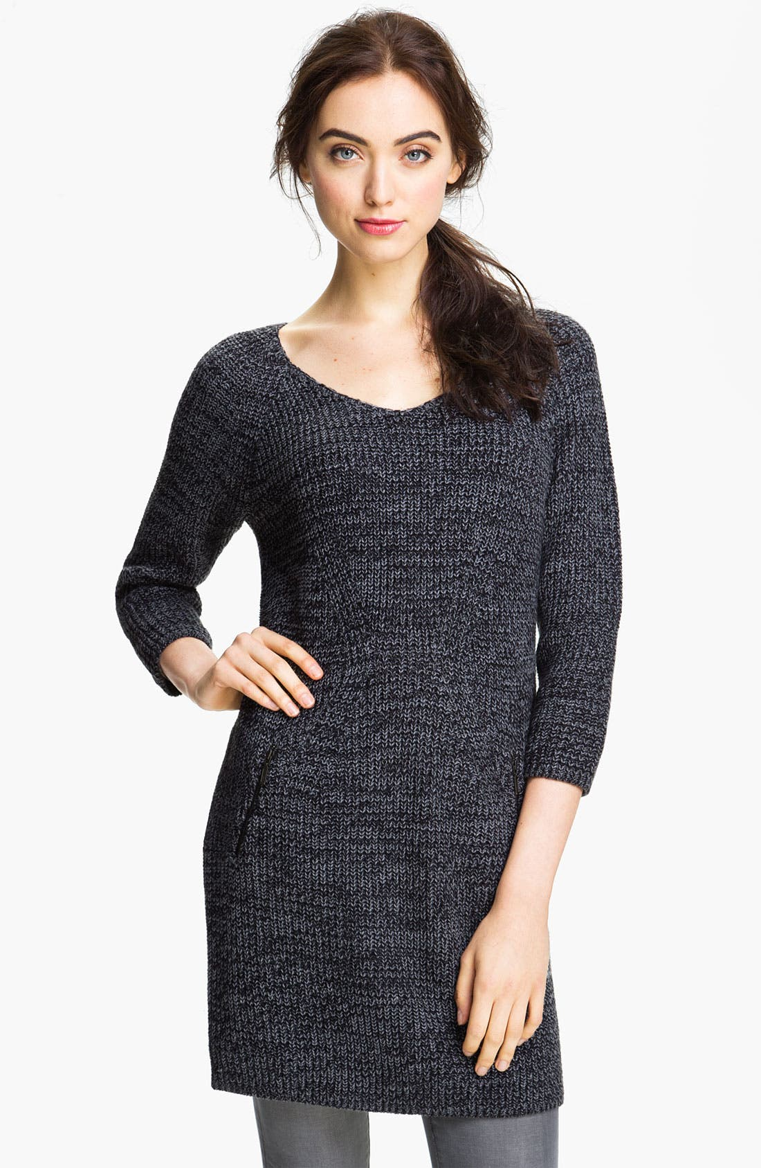 Alternate Image 1 Selected - Caslon® Shaker Stitch Sweater Dress