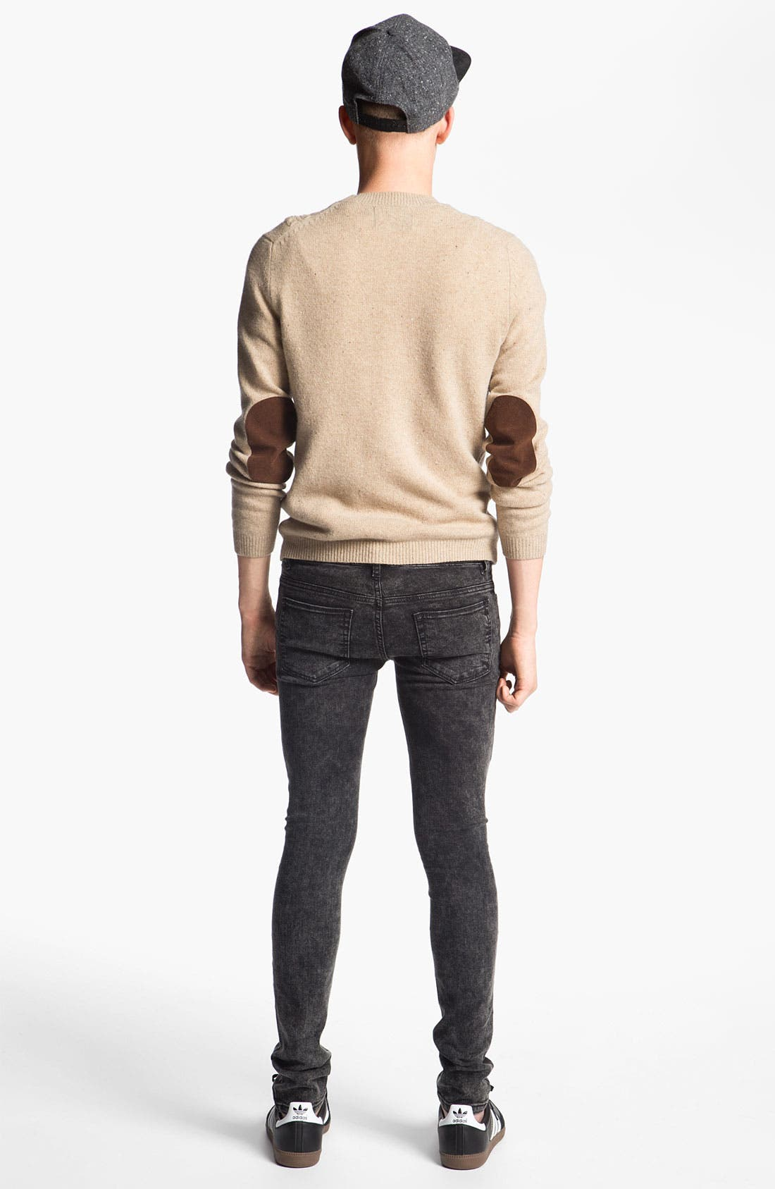 Alternate Image 5  - Topman Cable Knit Crewneck Sweater