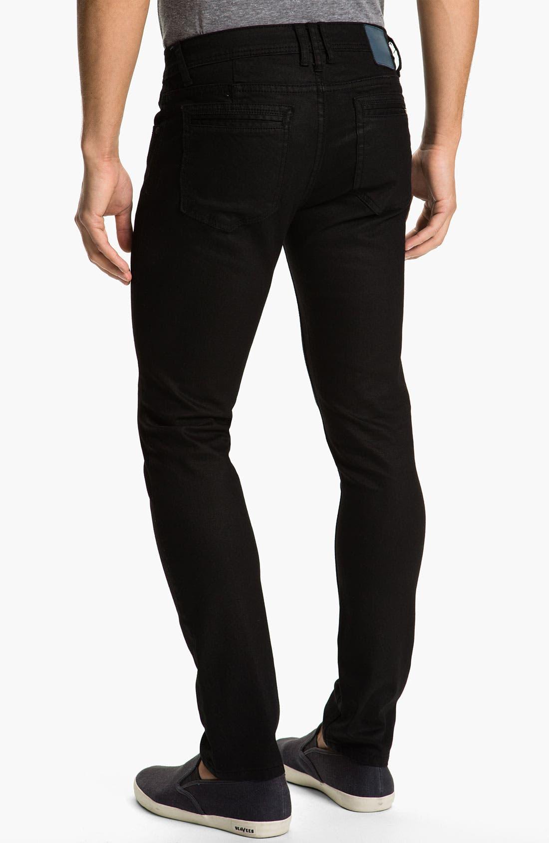 Alternate Image 1 Selected - Ezekiel 'Chopper 305' Slim Straight Leg Jeans (Black)